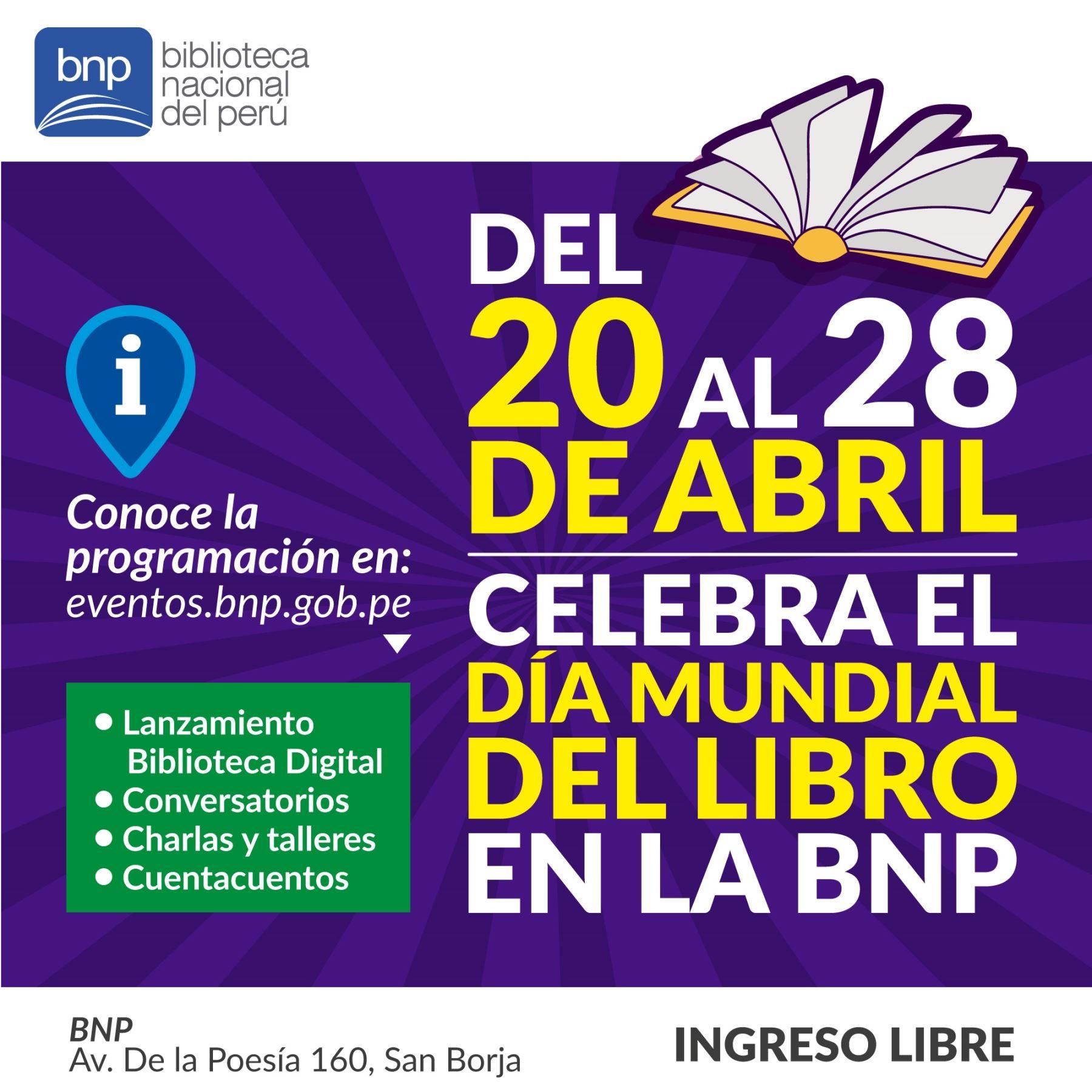 Actividades de la Biblioteca Nacional por el Día del Libro Foto: ANDINA/Difusión