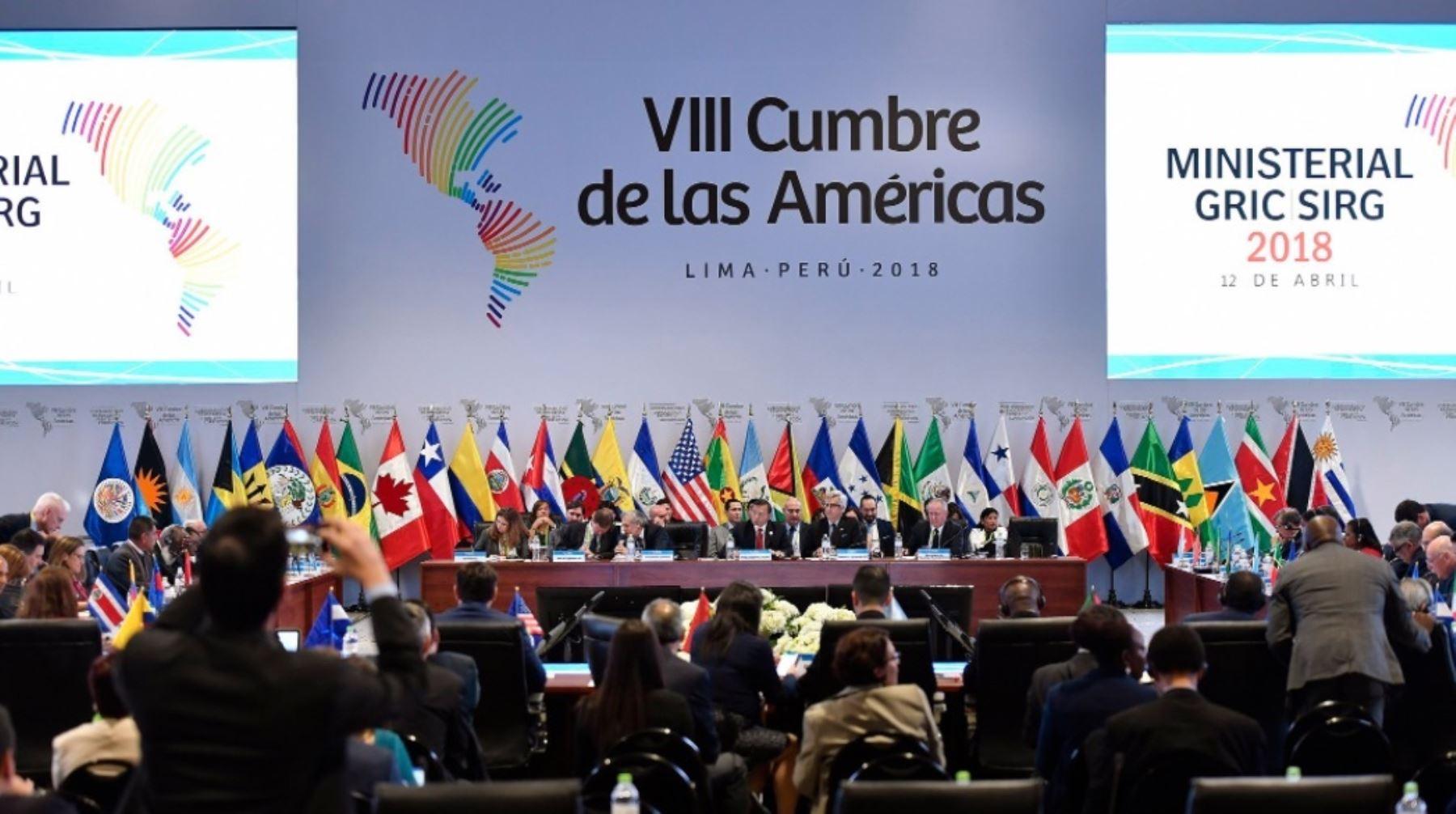 Cancilleres culminan negociación de compromiso anticorrupción de Cumbre de las Américas.
