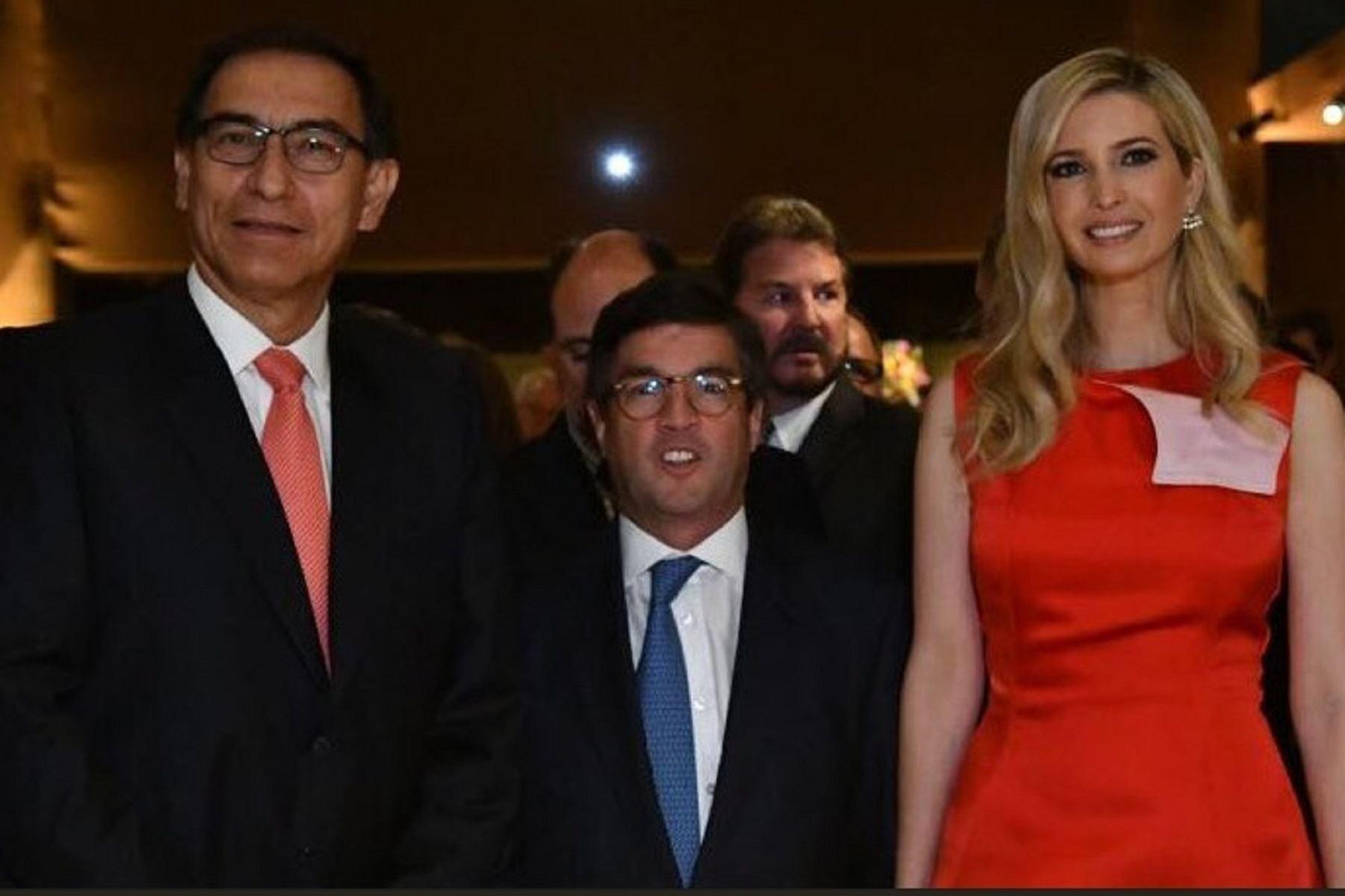 Presidente Martín Vizcarra dialogó con Ivanka Trump, hija y asesora especial del presidente estadounidense, Donald Trump.