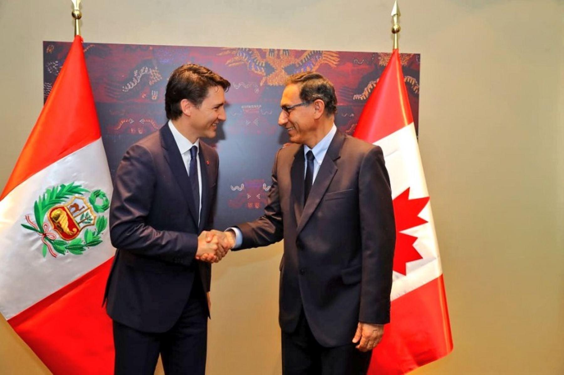 Presidente Martín Vizcarra se reunió con el primer ministro de Canadá, Justin Trudeau.