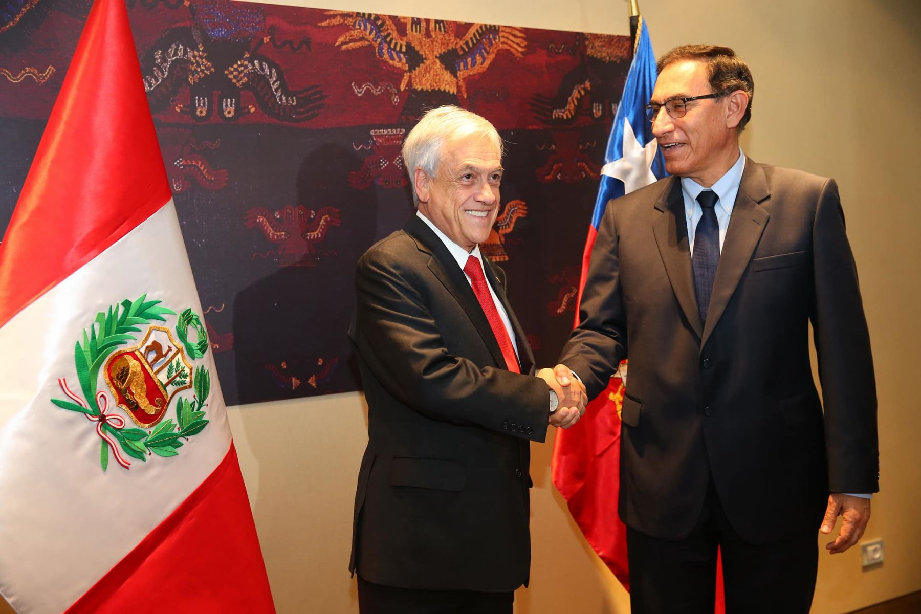 Presidente Martín Vizcarra se reúne con su homólogo chileno, Sebastián Piñera. Foto: ANDINA/Prensa Presidencia.