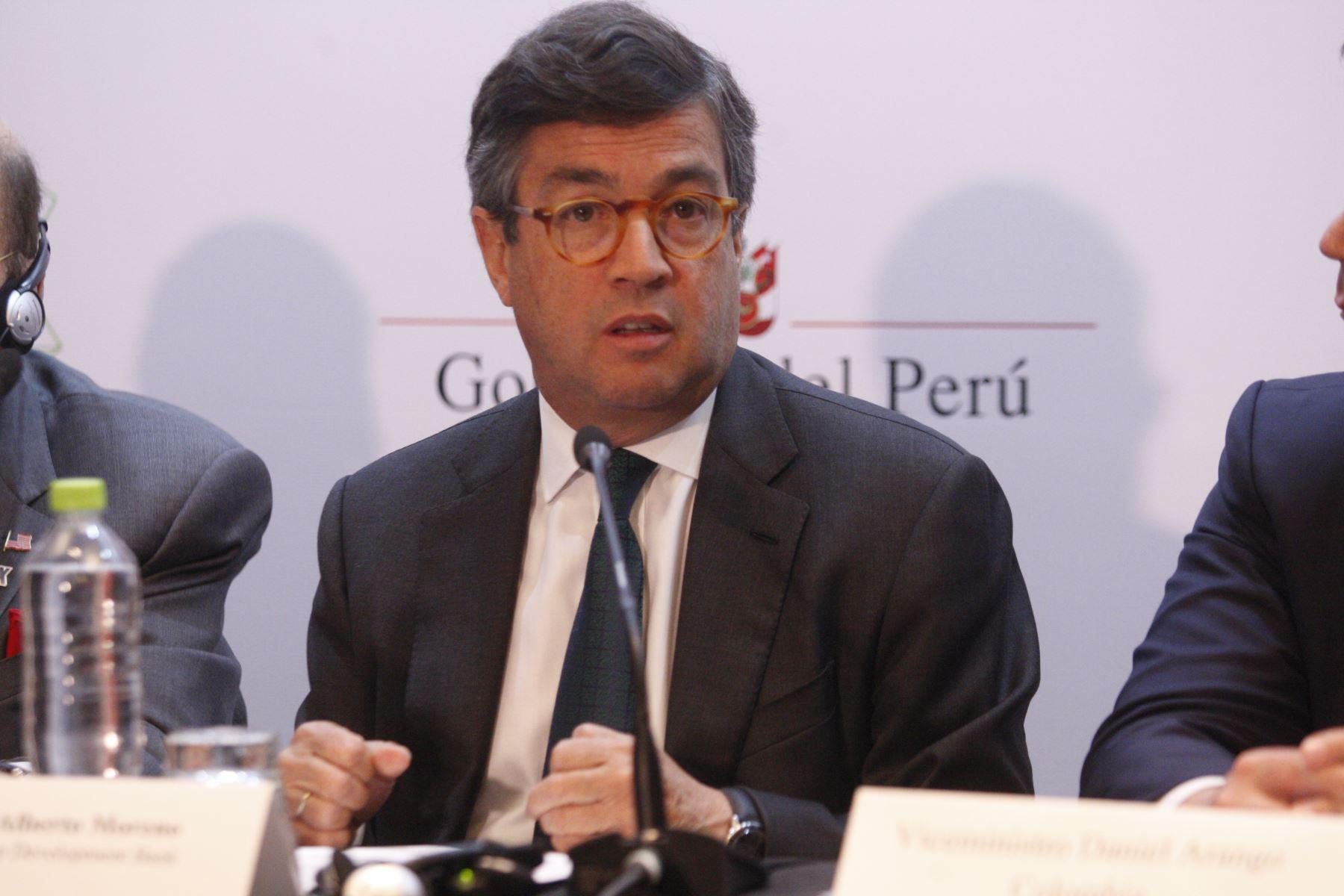 Presidente del BID, Luis Alberto Moreno. ANDINA/Eddy Ramos