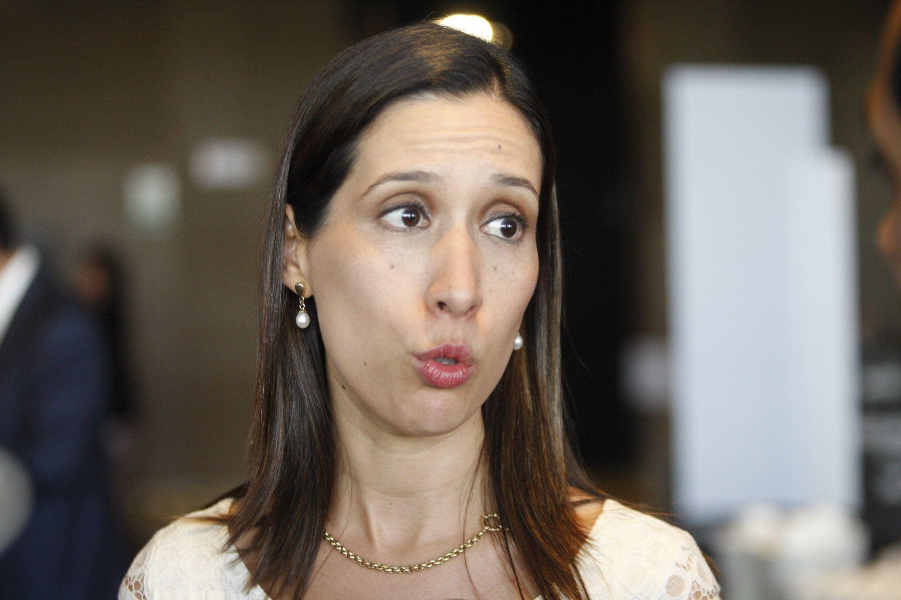 Entrevista a Claudia Cornejo, gerente general de Confiep. ANDINA/Eddy Ramos