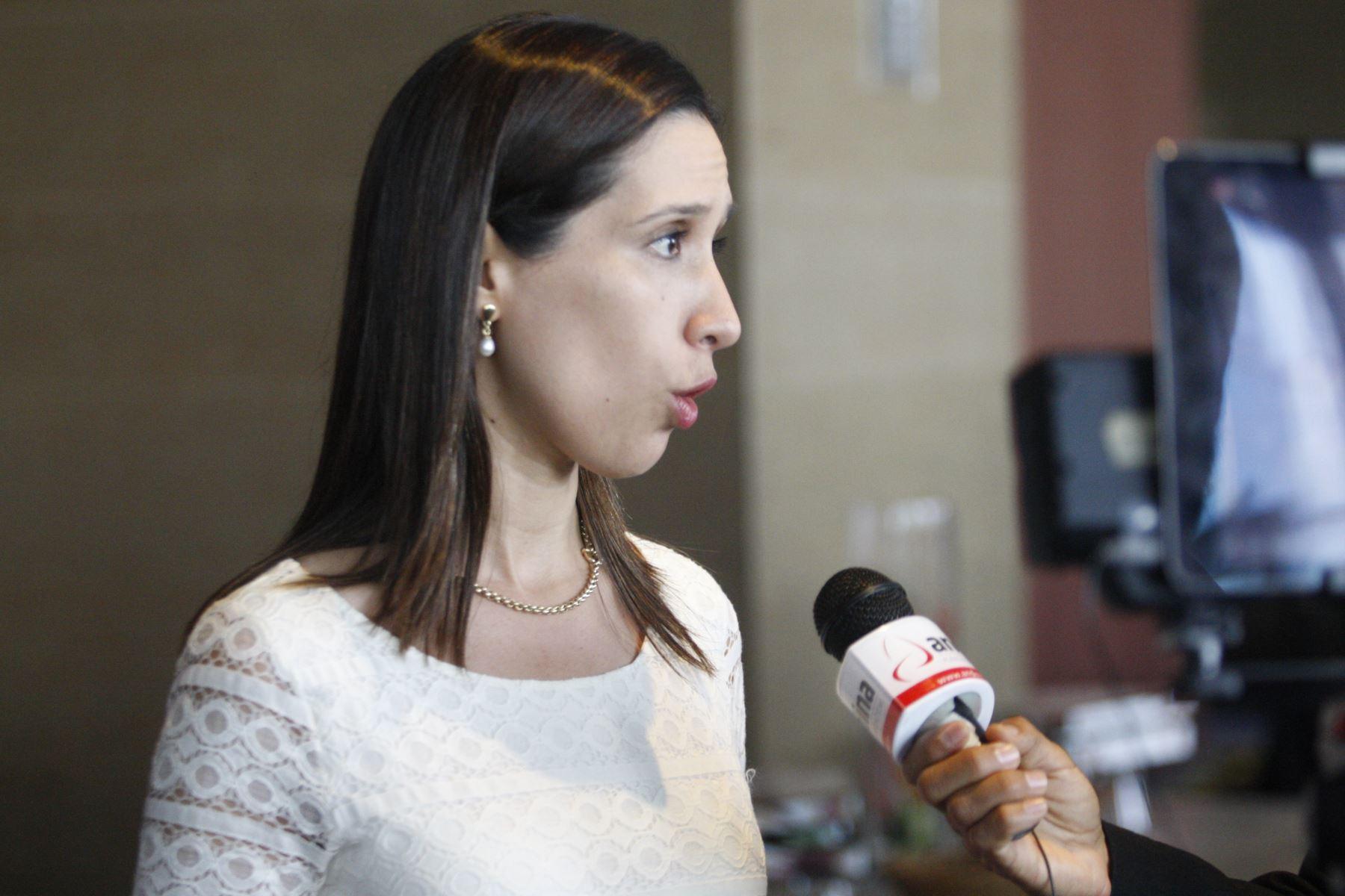 Entrevista a Claudia Cornejo, gerente general de Confiep. Foto:  ANDINA/Eddy Ramos.