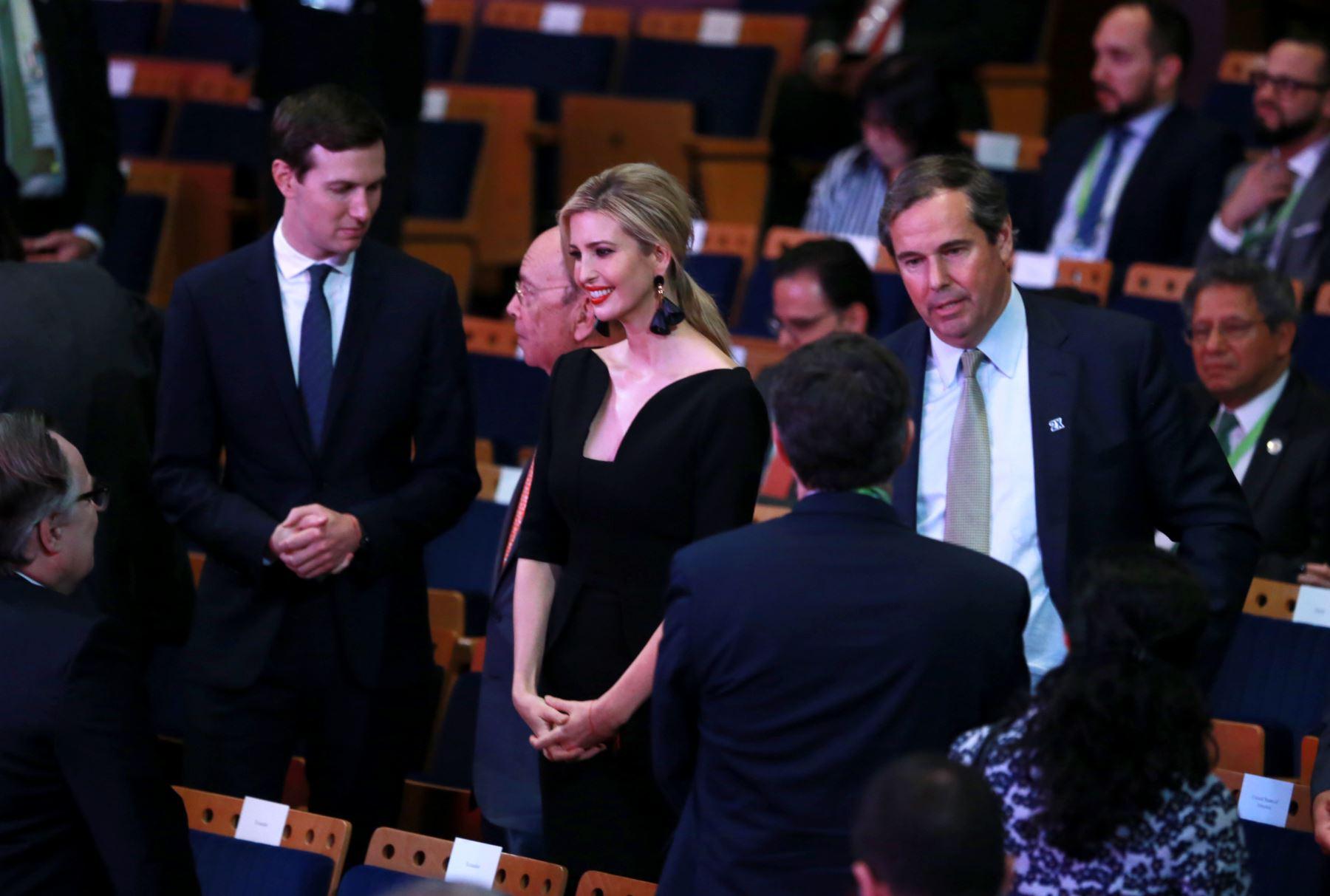 Ivanka Trump asiste a la Ceremonia de inauguración de la VIII Cumbre de Las Américas en el Gran Teatro Nacional. Foto: ANDINA/Norman Córdova