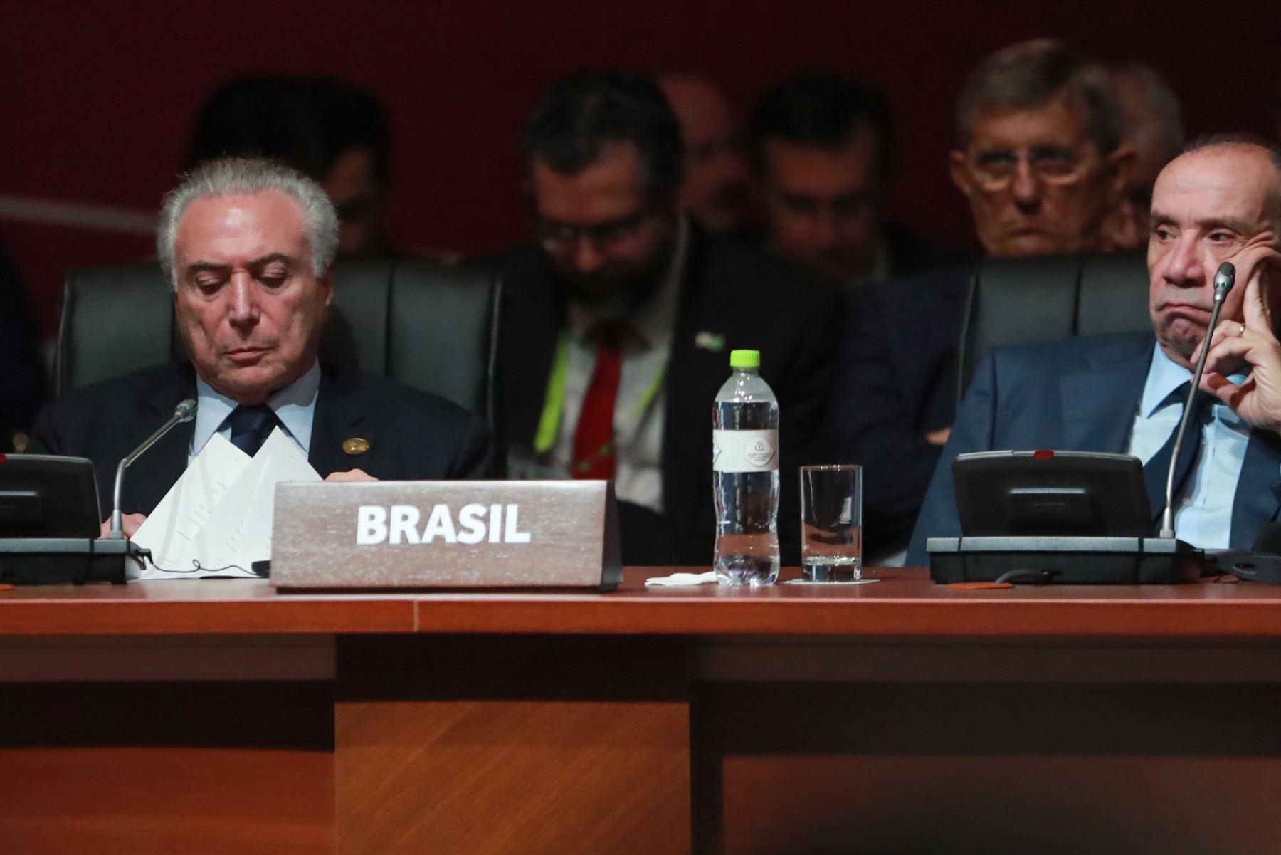 Inicia sesión plenaria de la VIII Cumbre de las Américas en Lima. Foto: ANDINA/ Carlos Lezama