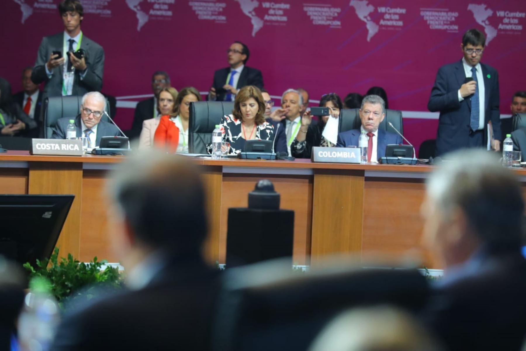 Sesión plenaria de la VIII Cumbre de las Américas en Lima. Foto: ANDINA/Prensa Presidencia