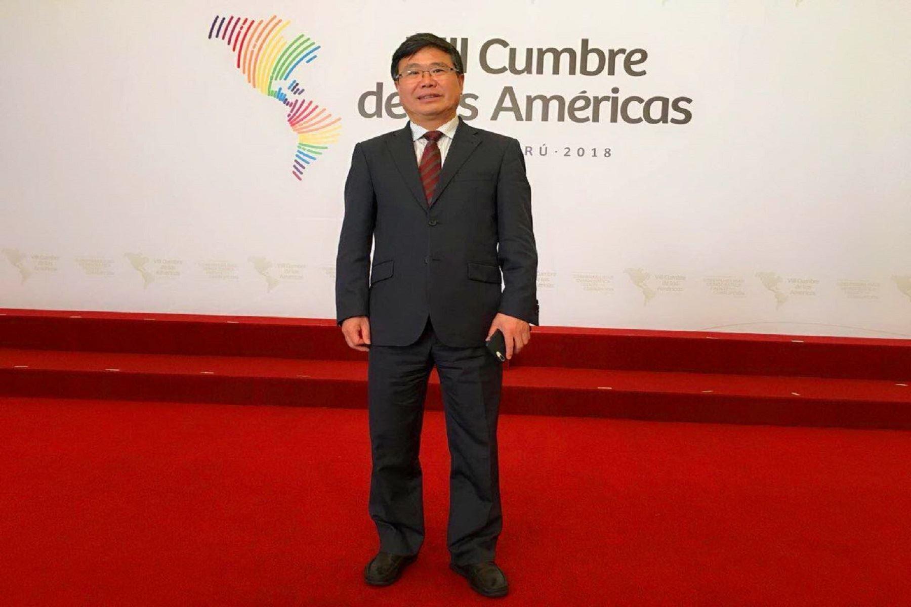 El director general del Departamento de América Latina y el Caribe del Ministerio de Relaciones Exteriores de China, Zhao Bentang.