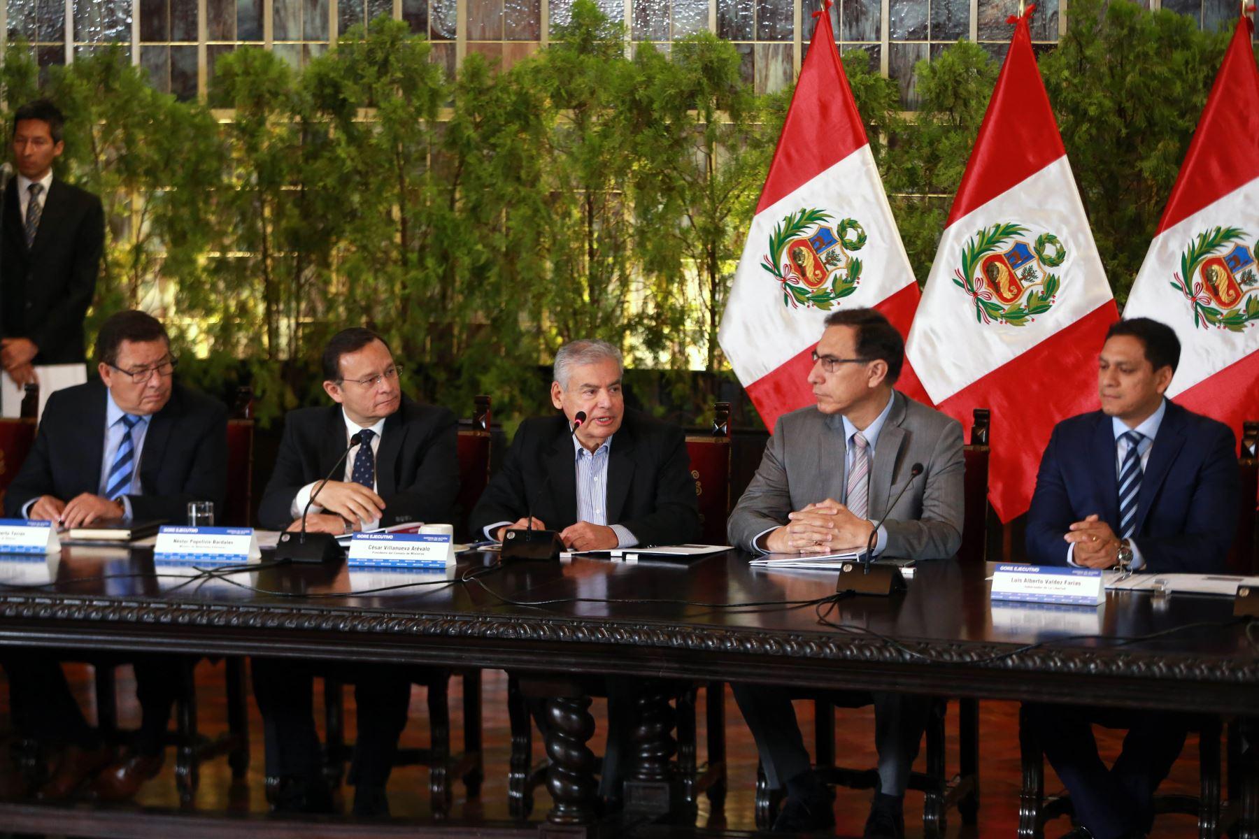 Se inició reunión del Gore extraordinario en Palacio de Gobierno. ANDINA/Vidal Tarqui