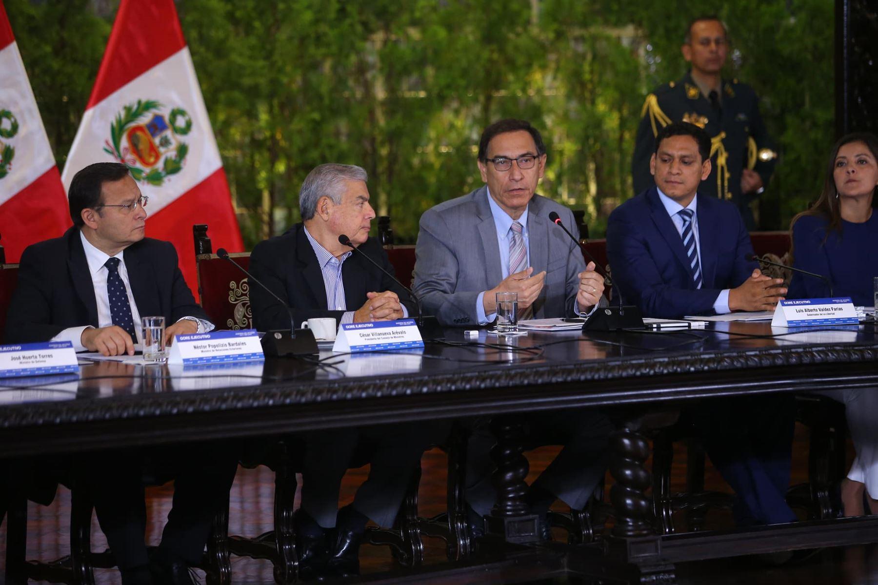 Presidente Martín Vizcarra participa en Gore-Ejecutivo Extraordinario. Foto: ANDINA/Prensa Presidencia.