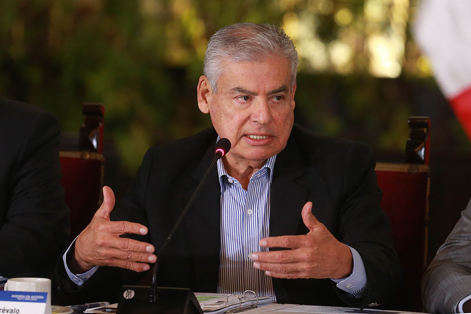 El jefe del Gabinete de Ministros, César Villanueva, participa en Gore-Ejecutivo Extraordinario. Foto: ANDINA/Prensa Presidencia.