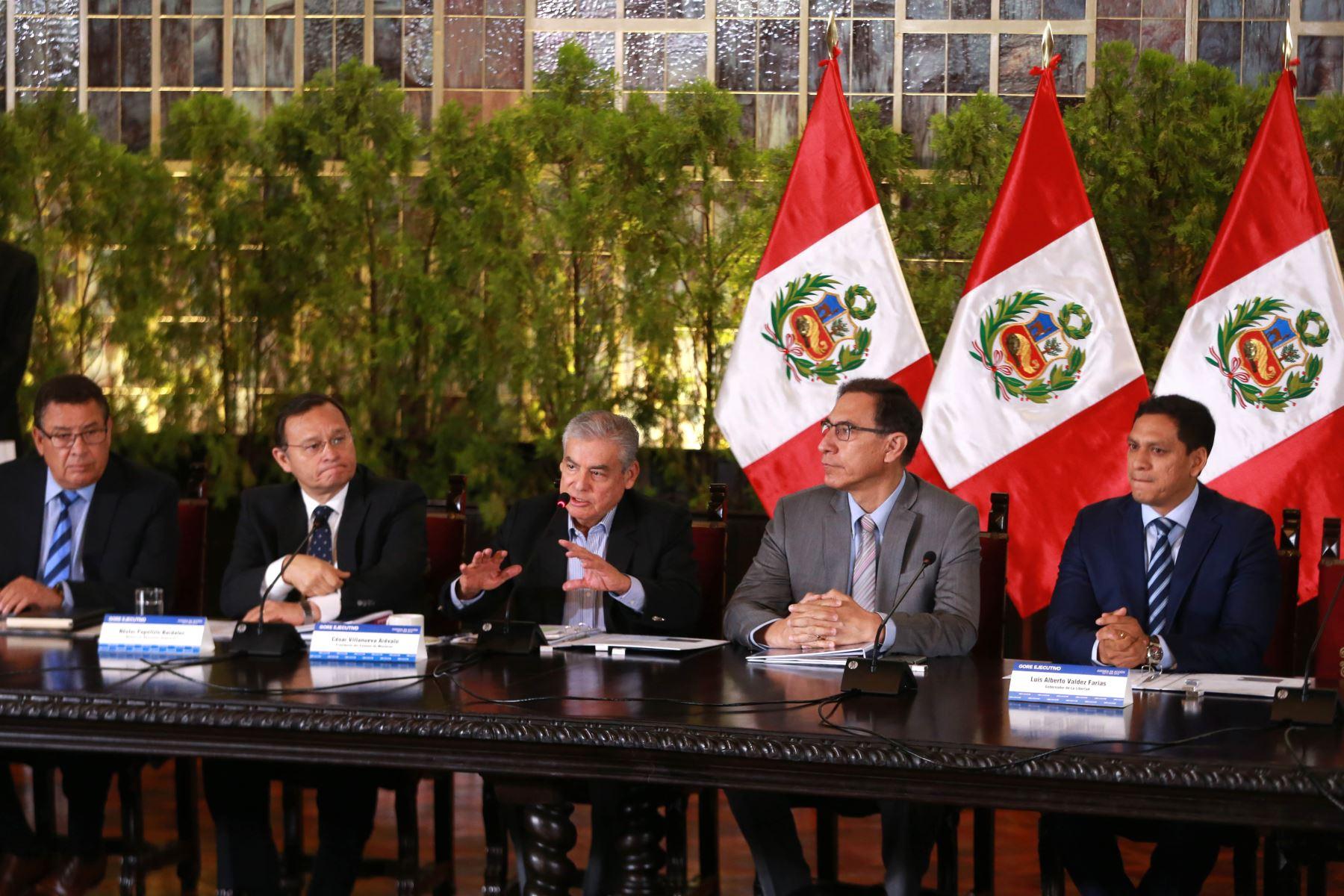 Presidente Martín Vizcarra participa en Gore-Ejecutivo Extraordinario. Foto: ANDINA/Vidal Tarqui.