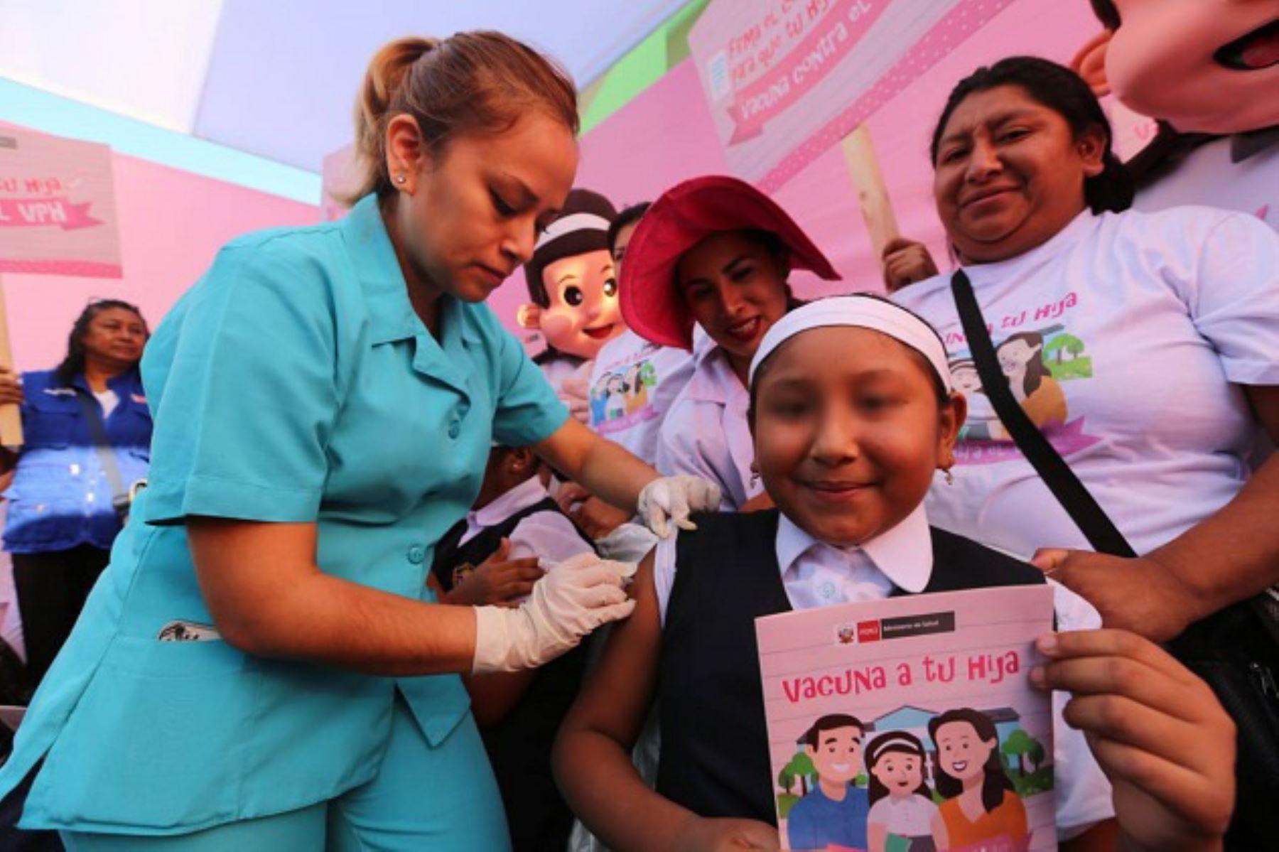 Lima concentra a la mayoría de niñas vacunadas. Foto: Difusión.