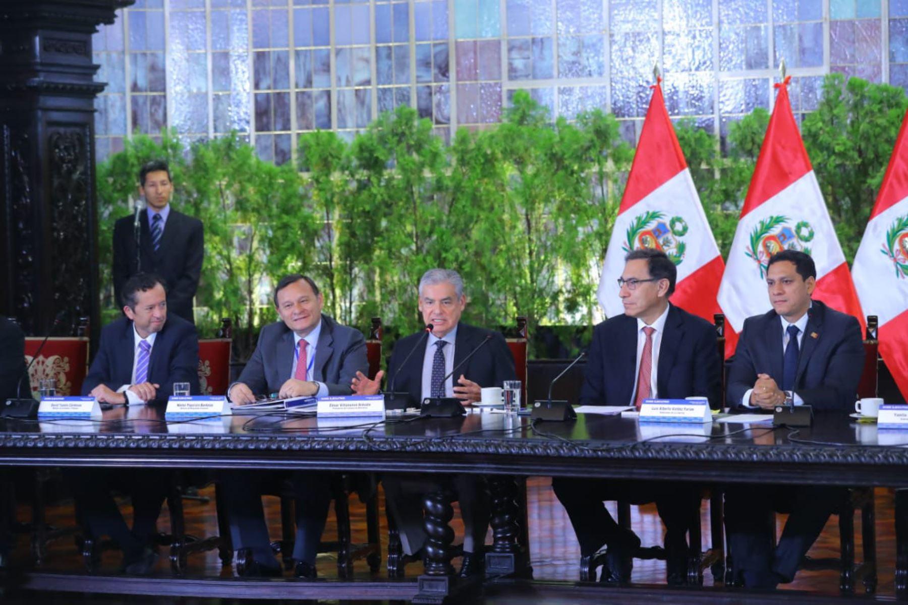 El jefe del Gabinete Ministerial, César Villanueva, en Gore-Ejecutivo. Foto: ANDINA/Prensa Presidencia.