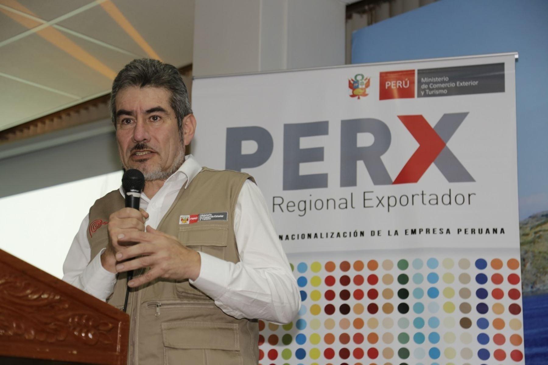 Ministro de Comercio Exterior y Turismo, Rogers Valencia. Foto: Cortesía.