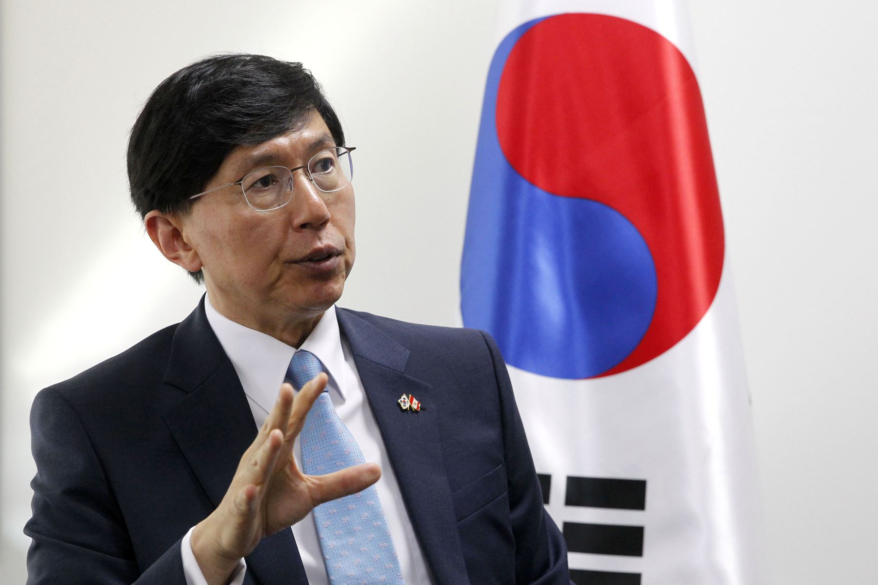 Embajador de Corea del Sur, June-hyuck Cho.Foto:  ANDINA/Dante Zegarra.