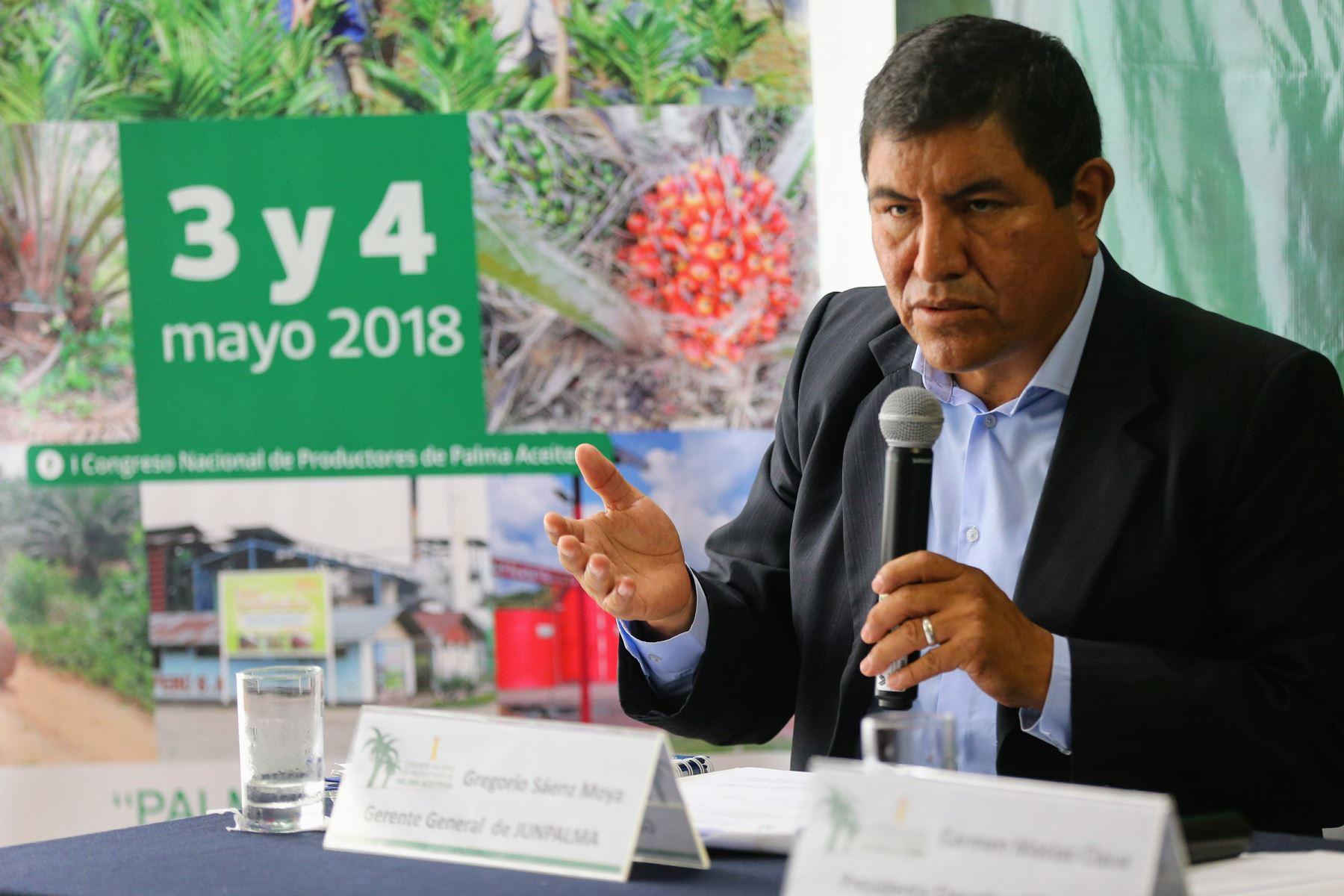 Gerente general de la Junta Nacional de Palma Aceitera del Perú, Gregorio Saénz. ANDINA/Luis Iparraguirre