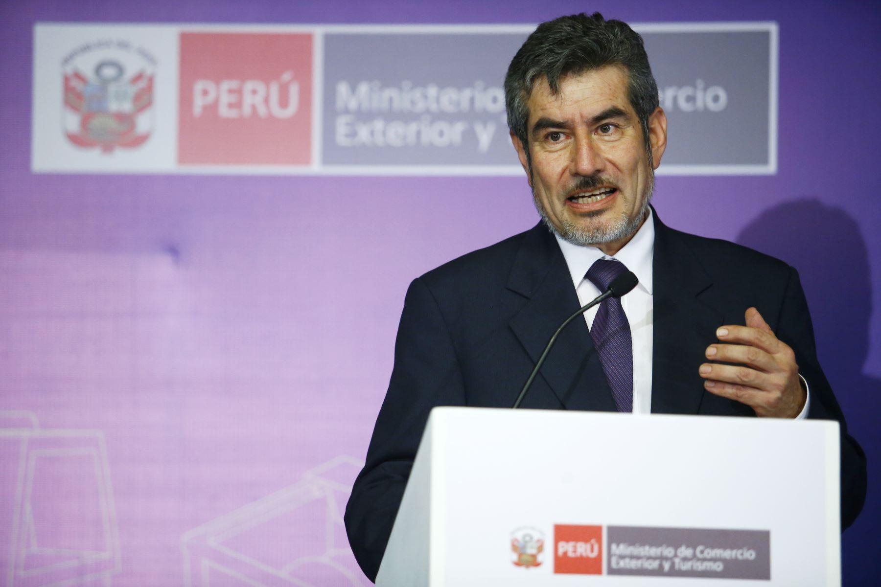 Ministro de Comercio Exterior y Turismo, Rogers Valencia. ANDINA/Melina Mejía
