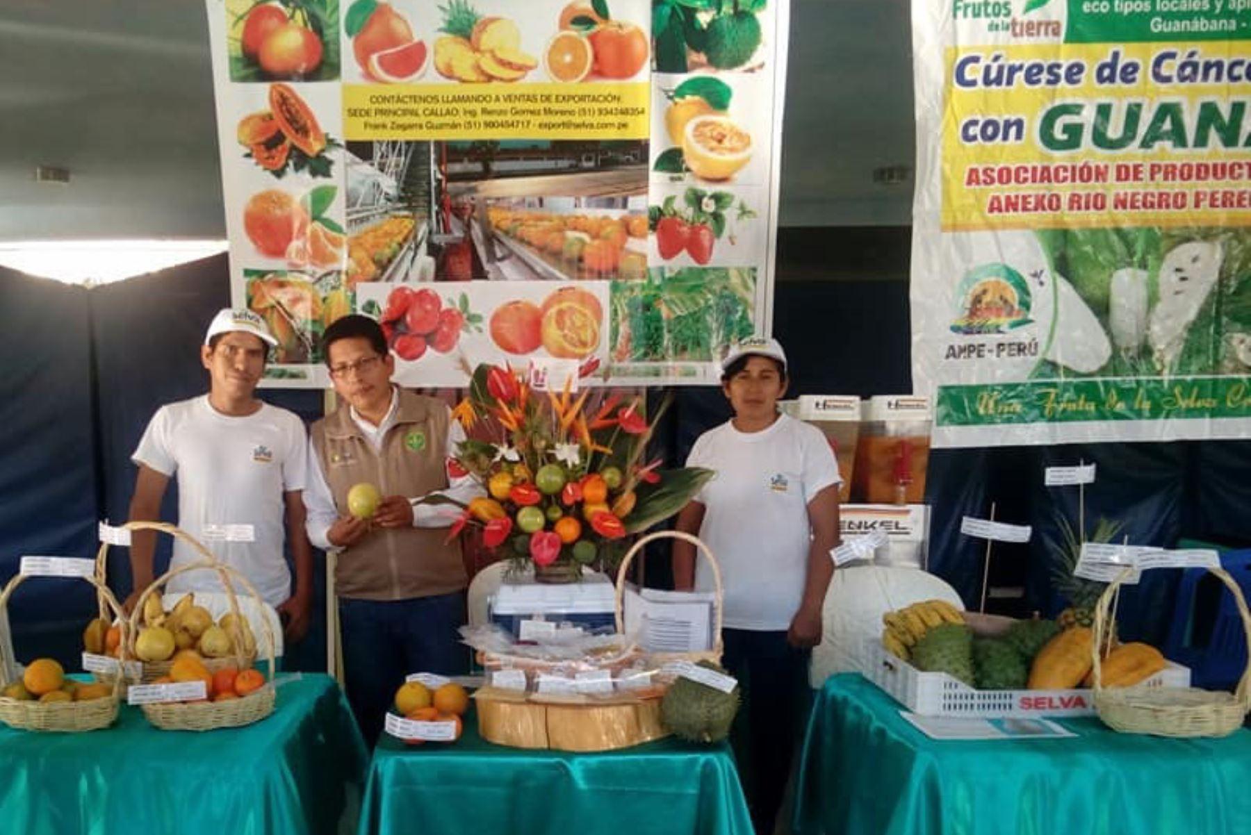Productores de Chanchamayo, en Junín exponen 50 variedades de frutas frescas y exóticas a compradores alemanes. ANDINA