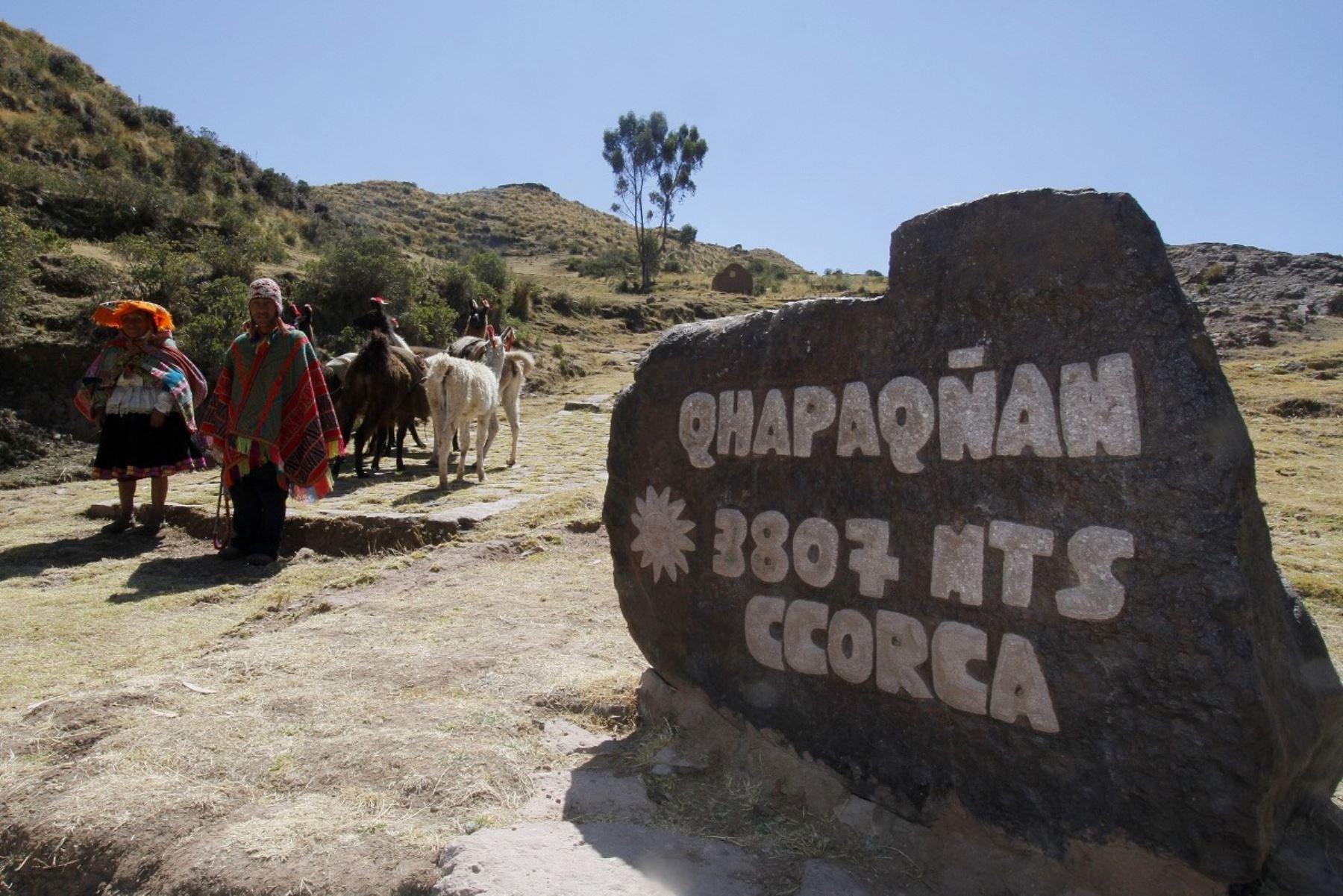 La Municipalidad de Cusco implementó proyecto que impulsa la visita turística gratuita al Camino Inca y otros circuitos turísticos. ANDINA/Percy Hurtado