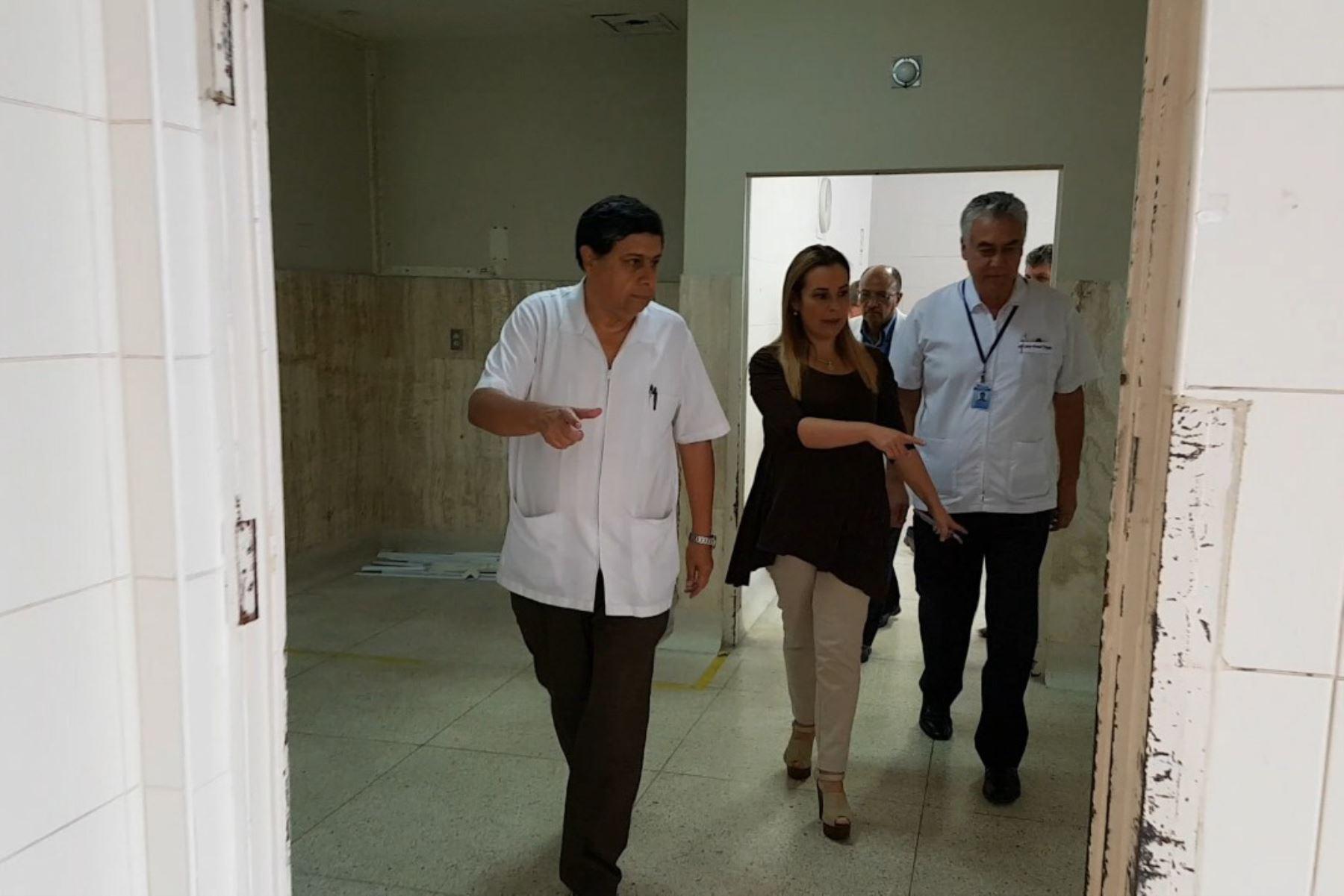 Presidenta de Essalud visita hospital Rebagliati. Foto: Andina/difusión