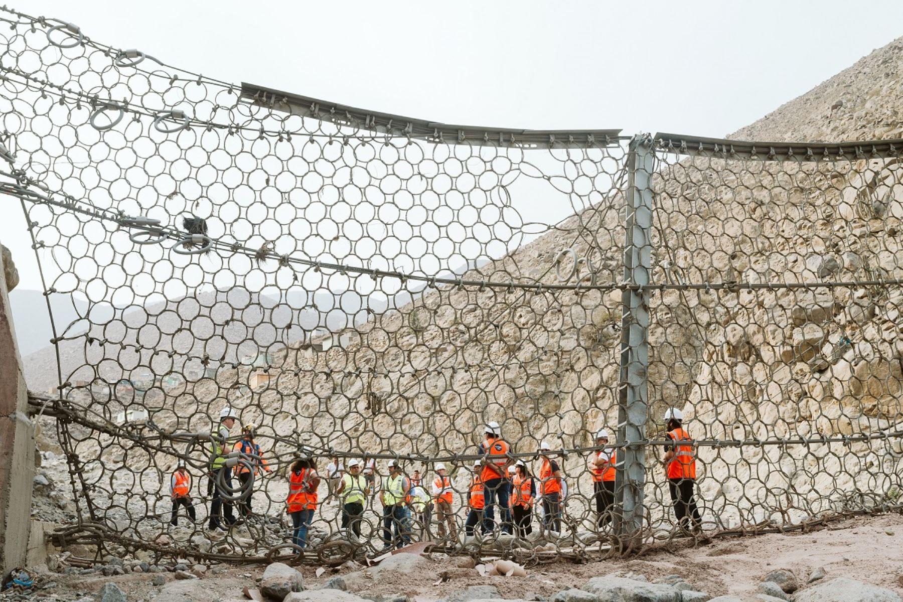 Barreras dinámicas en Chosica: Foto: Cortesía.
