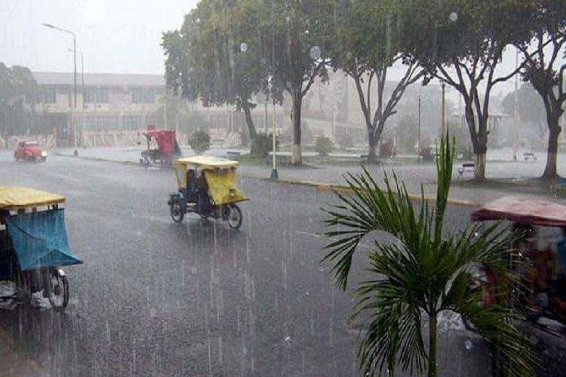 Senamhi pronostica lluvias intensas en la selva del martes 23 al jueves 25 de abril. ANDINA/Difusión