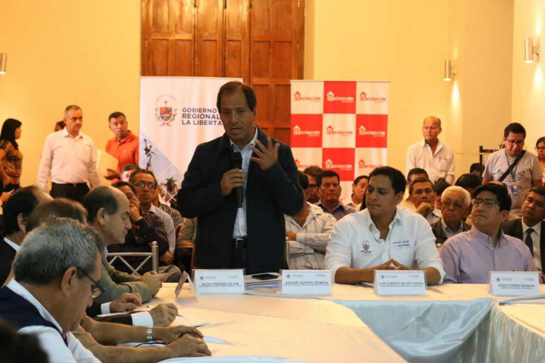 El director ejecutivo de la Autoridad para la Reconstrucción con Cambios (ARCC), Edgar Quispe Remón, afirmó que es hora para encontrar la solución definitiva a la quebrada San Ildefonso para que no genere más daño a la población de Trujillo.