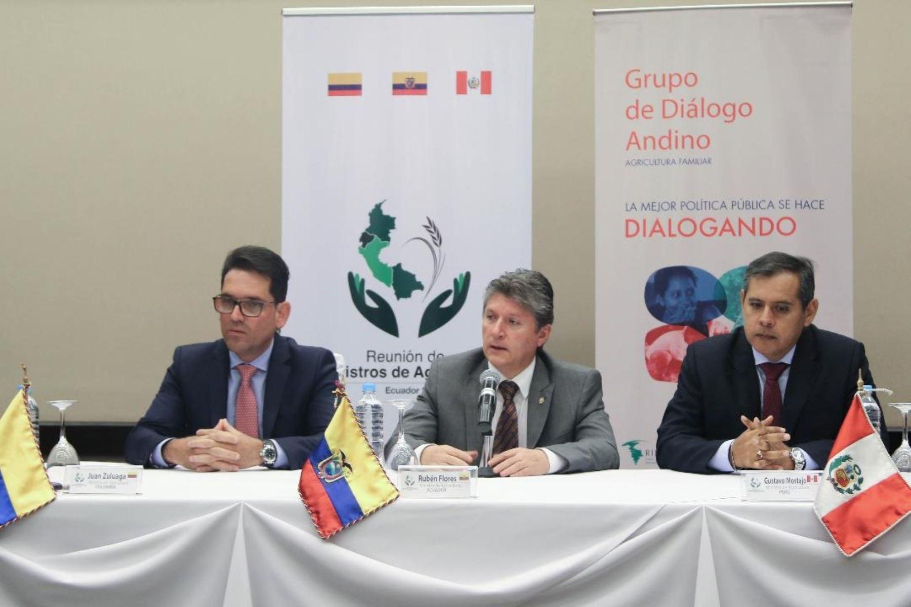 Ministros de Agricultura de la Comunidad Andina de Naciones.