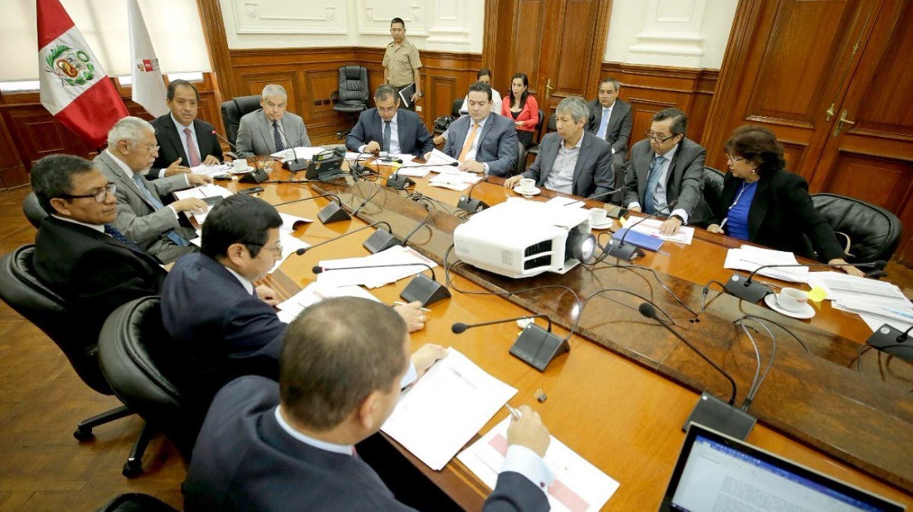 Jefe del Gabinete Ministerial, César Villanueva, participó en reunión de directorio de Autoridad para la Reconstrucción con Cambios.