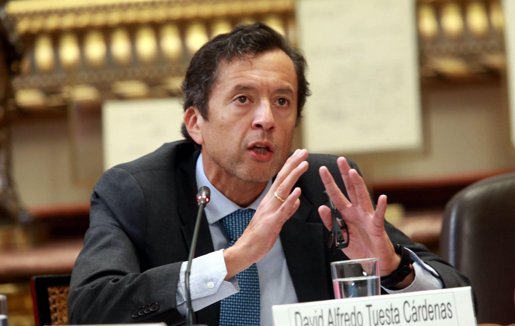 Ministro de Economía y Finanzas, David Tuesta. ANDINA/Norman Córdova