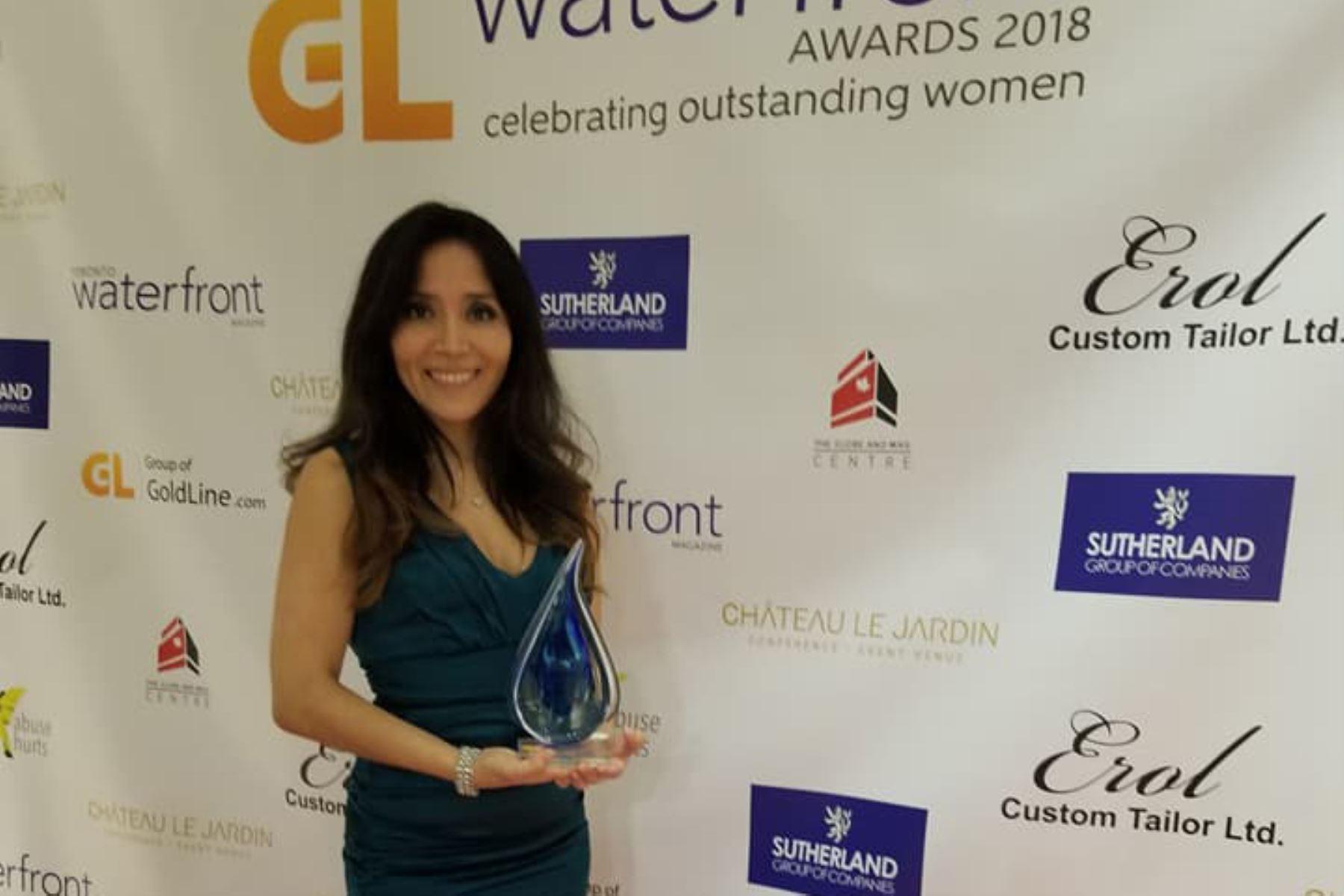 Artista peruana Soraya Lozano es premiada por su trayectoria artística en Canadá. Foto: ANDINA/Difusión