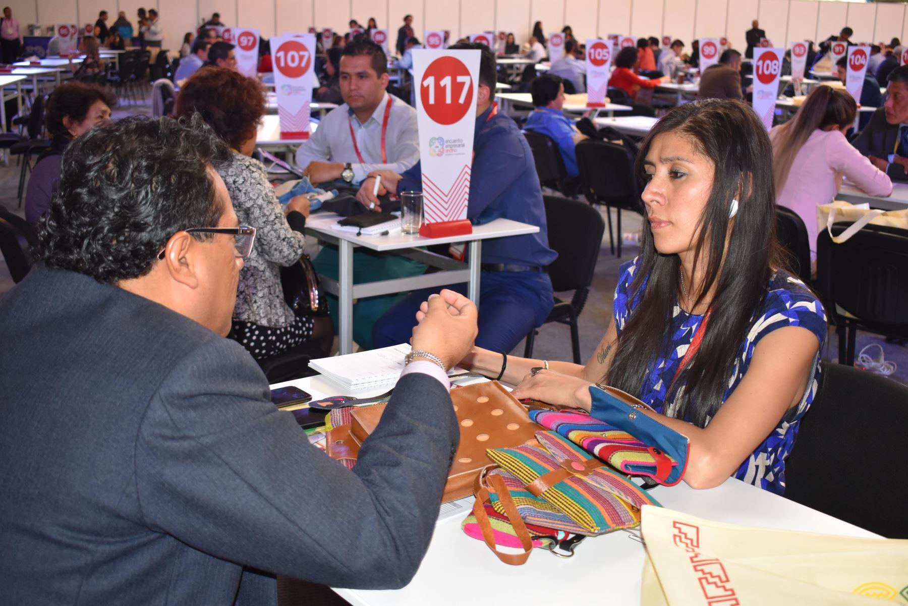Encuentro Empresarial Andino, que se realiza en Arequipa, logra US$ 37.5 millones en su primer día de rueda de negocios. ANDINA/Difusión