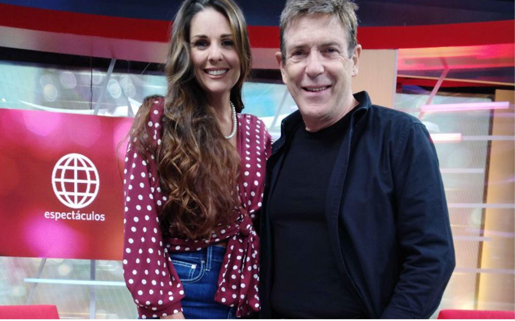 Rebeca Escribens y Carlos Mata guardan una gran amistad desde que trabajaron juntos en un programa en Venezuela.