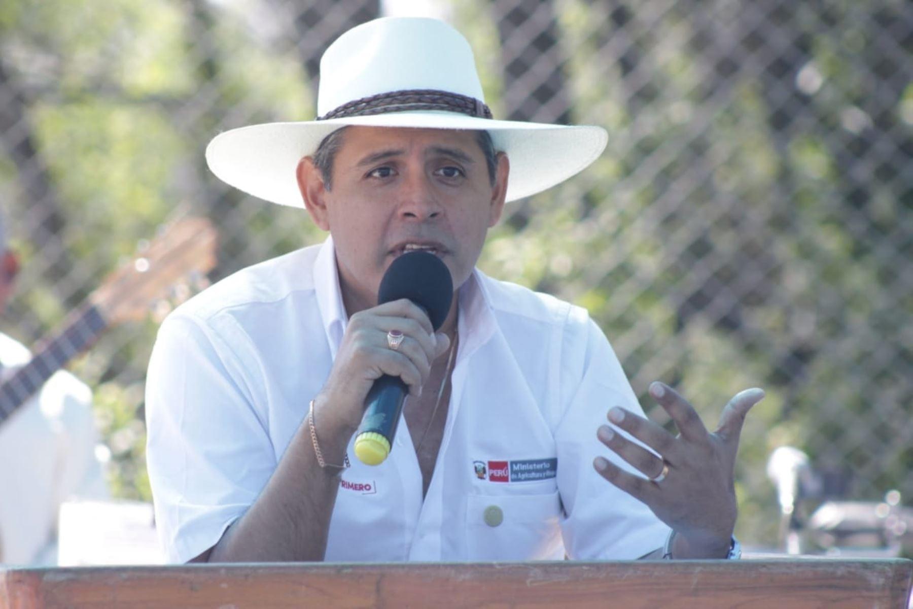 Ministro de Agricultura y Riego, Gustavo Mostajo. ANDINA/Difusión