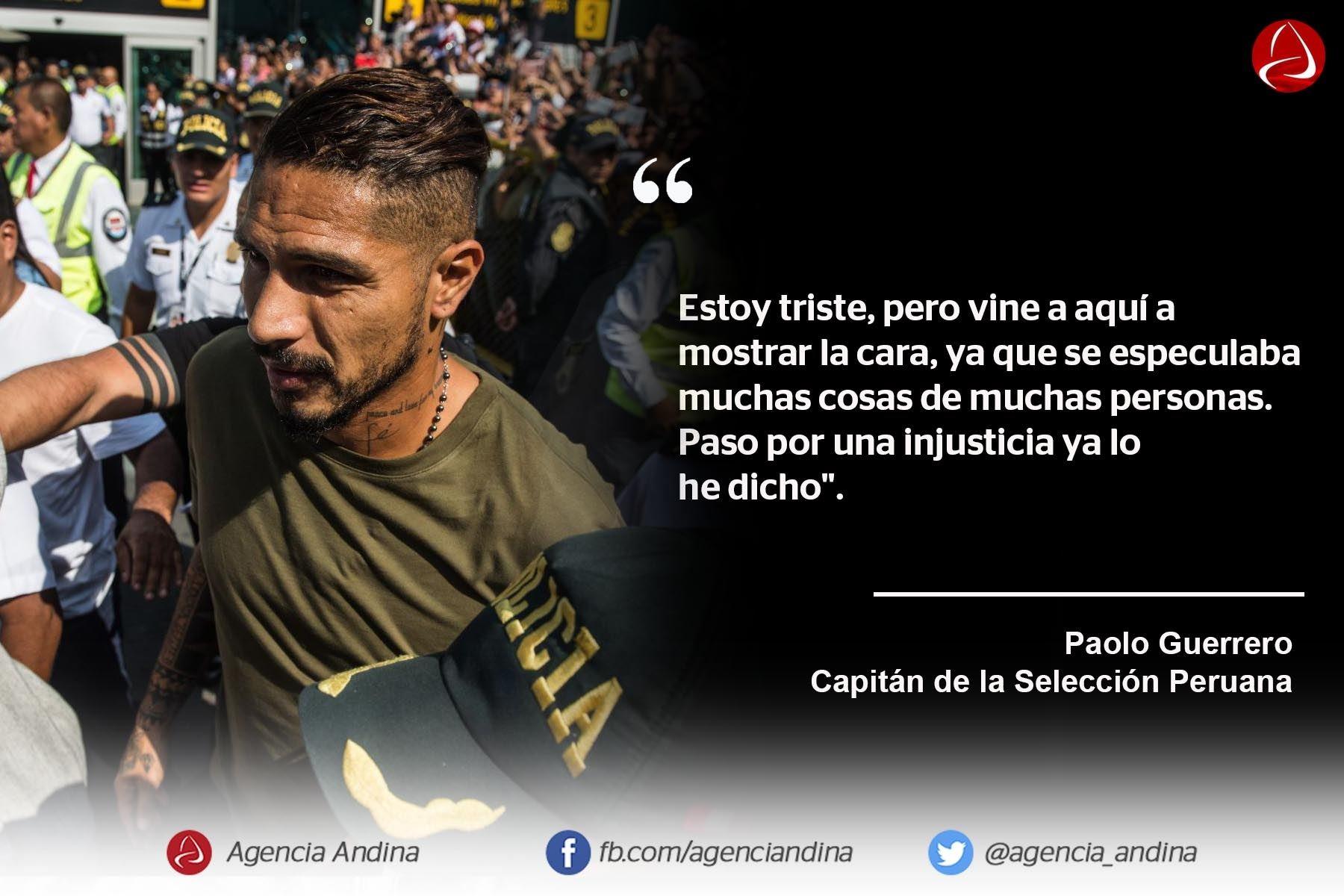Las Frases De Paolo Guerrero Al Llegar A Lima Noticias