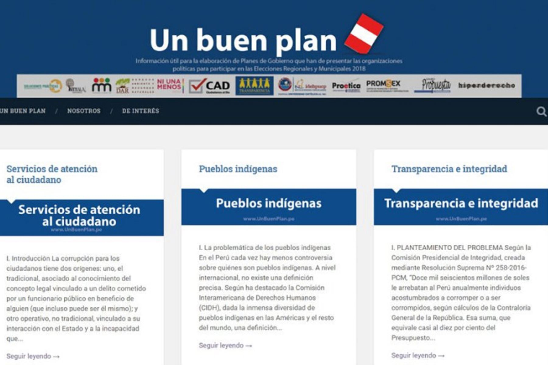 Candidatos podrán elaborar planes de gobierno con apoyo de ...