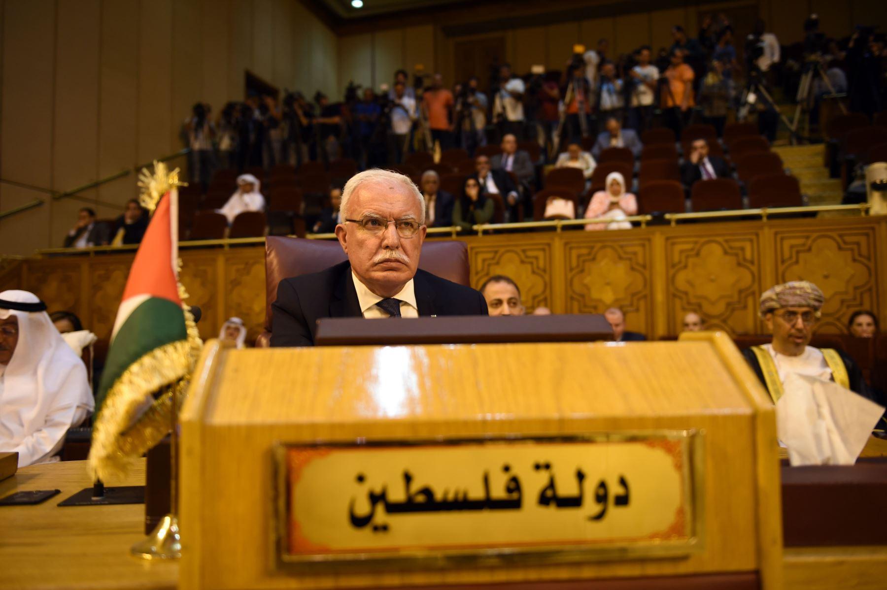 Ministro de Asuntos Exteriores palestino, Ryad al-Maliki Foto: AFP