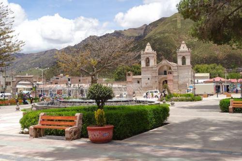 Chivay, ubicado en la provincia de Caylloma, en Arequipa, fue remecido hoy por un sismo de magnitud 4.5. ANDINA/Difusión