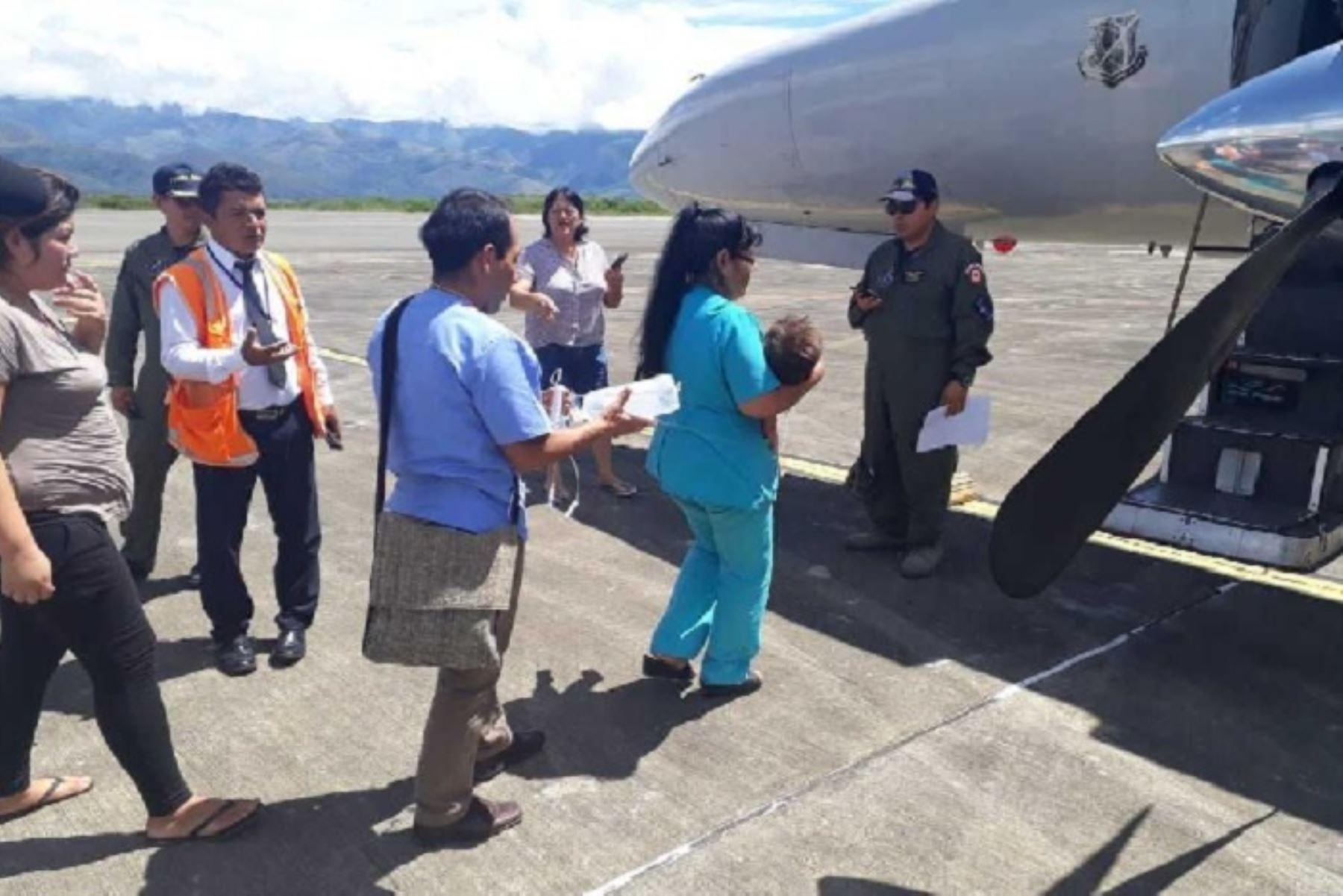 Evacuaciones aeromédicas se realizaron por disposición del ministro de Defensa, José Huerta Torres, ante un requerimiento del Minsa,, debido a la condición de gravedad de los pacientes.
