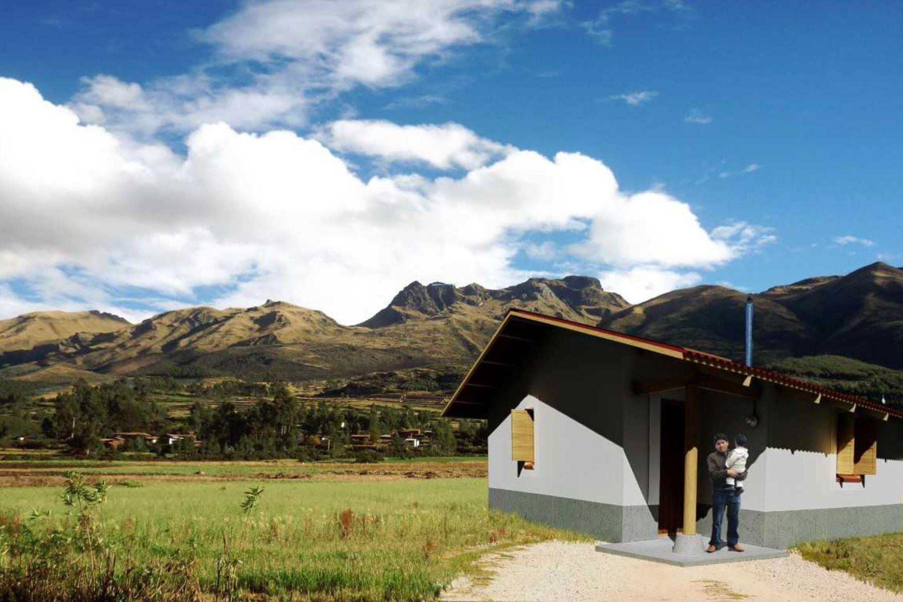 Más de S/ 3 millones invertirá el Ministerio de vivienda para mejorar viviendas rurales en dos distritos de Ayacucho, ubicados en el Vraem. ANDINA/Difusión