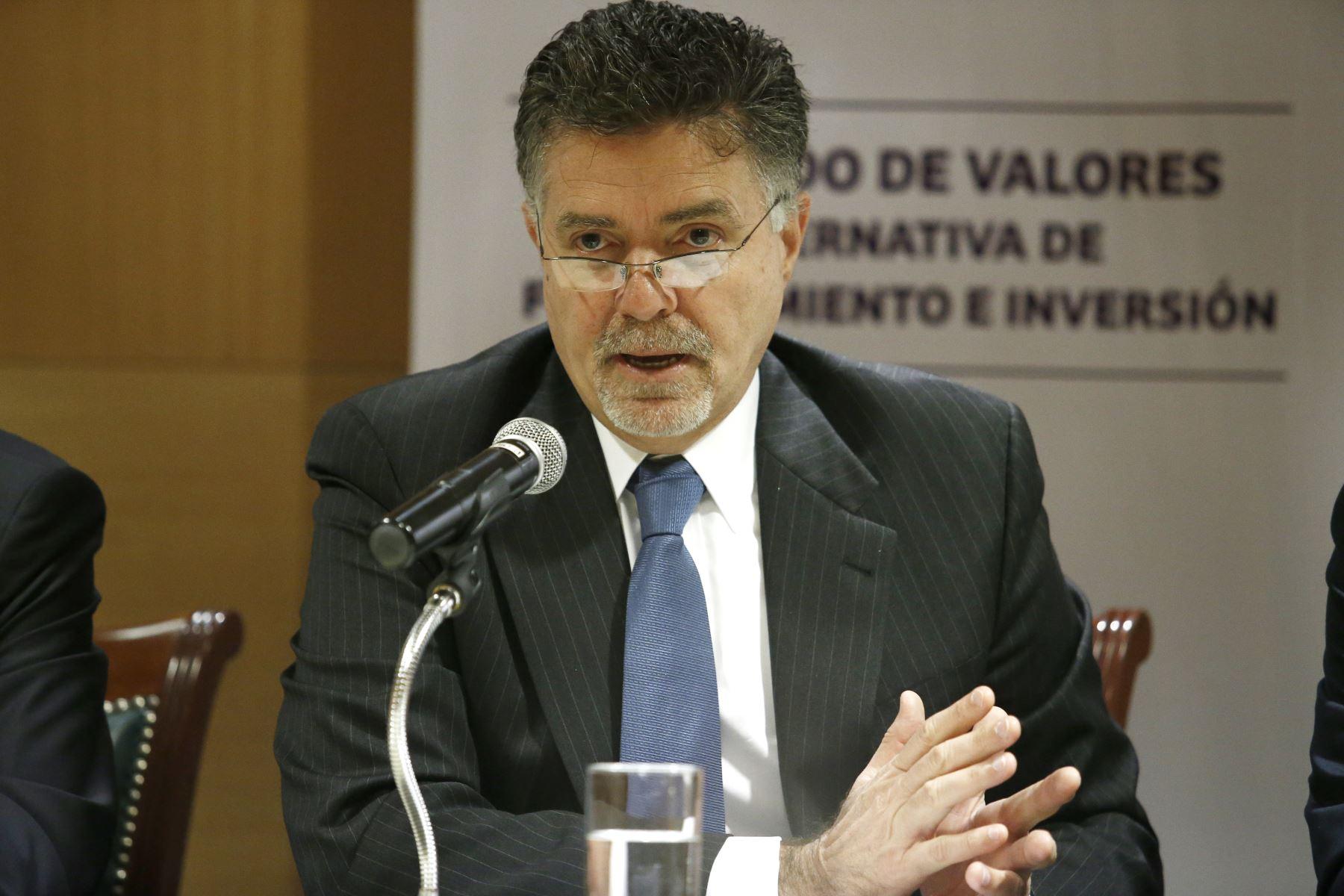 Superintendente de la Superintendencia del Mercado de Valores (SMV). Foto: ANDINA/Melina Mejía
