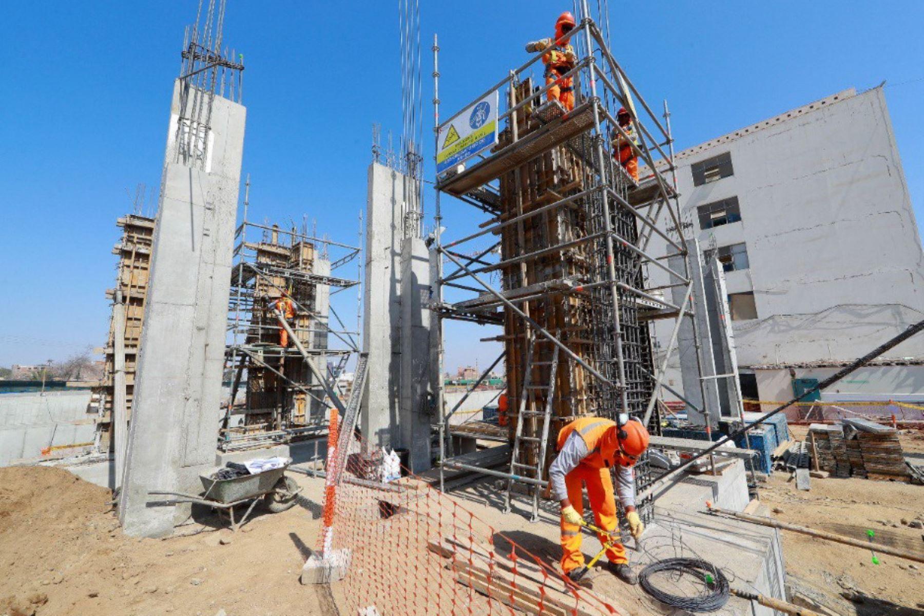 Actividad constructora en el Perú. ANDINA/Difusión