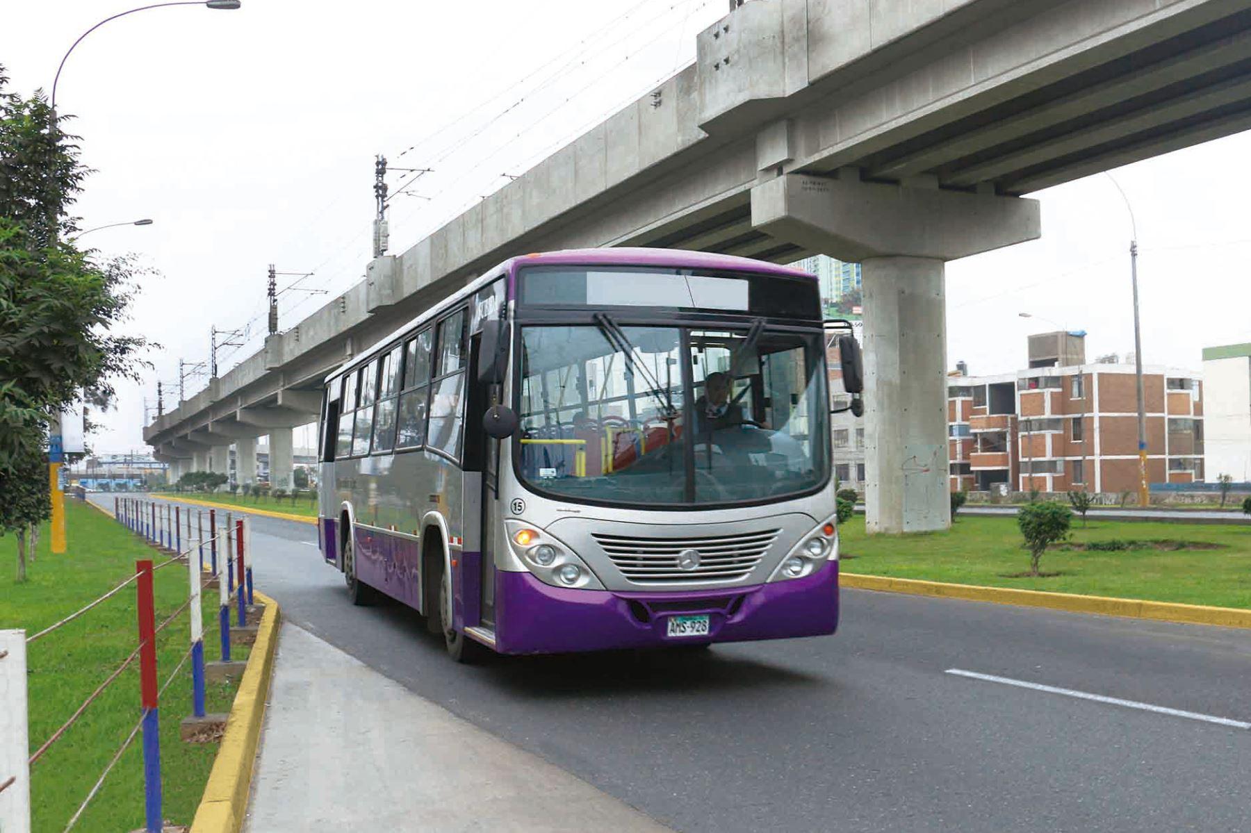 Unidad de transporte de pasajeros del Corredor Morado (imagen referencial). Foto: ANDINA/difusión.