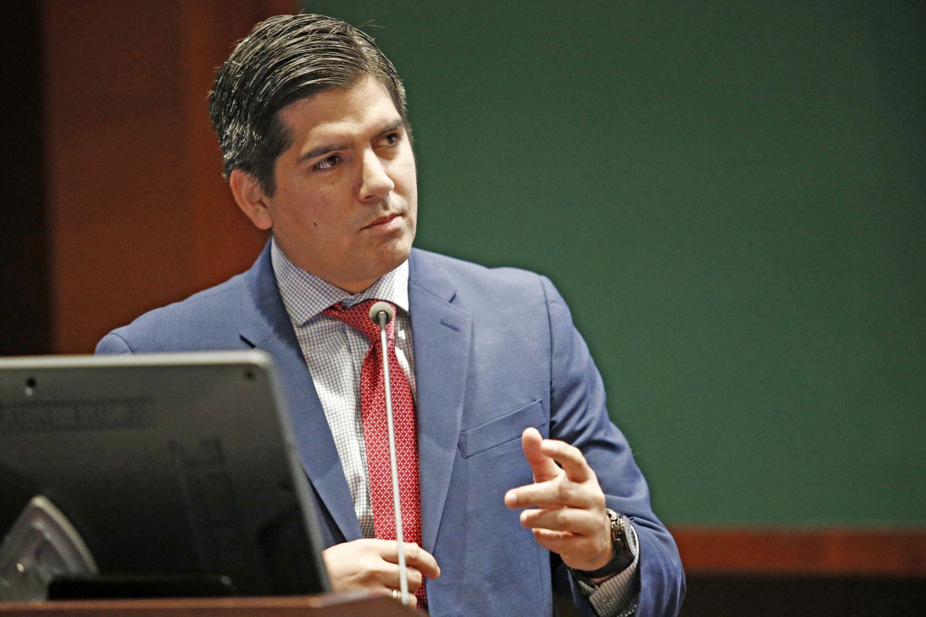 Funcionario del Banco Mundial, Jorge Echeandía.Foto:  ANDINA/Melina Mejía