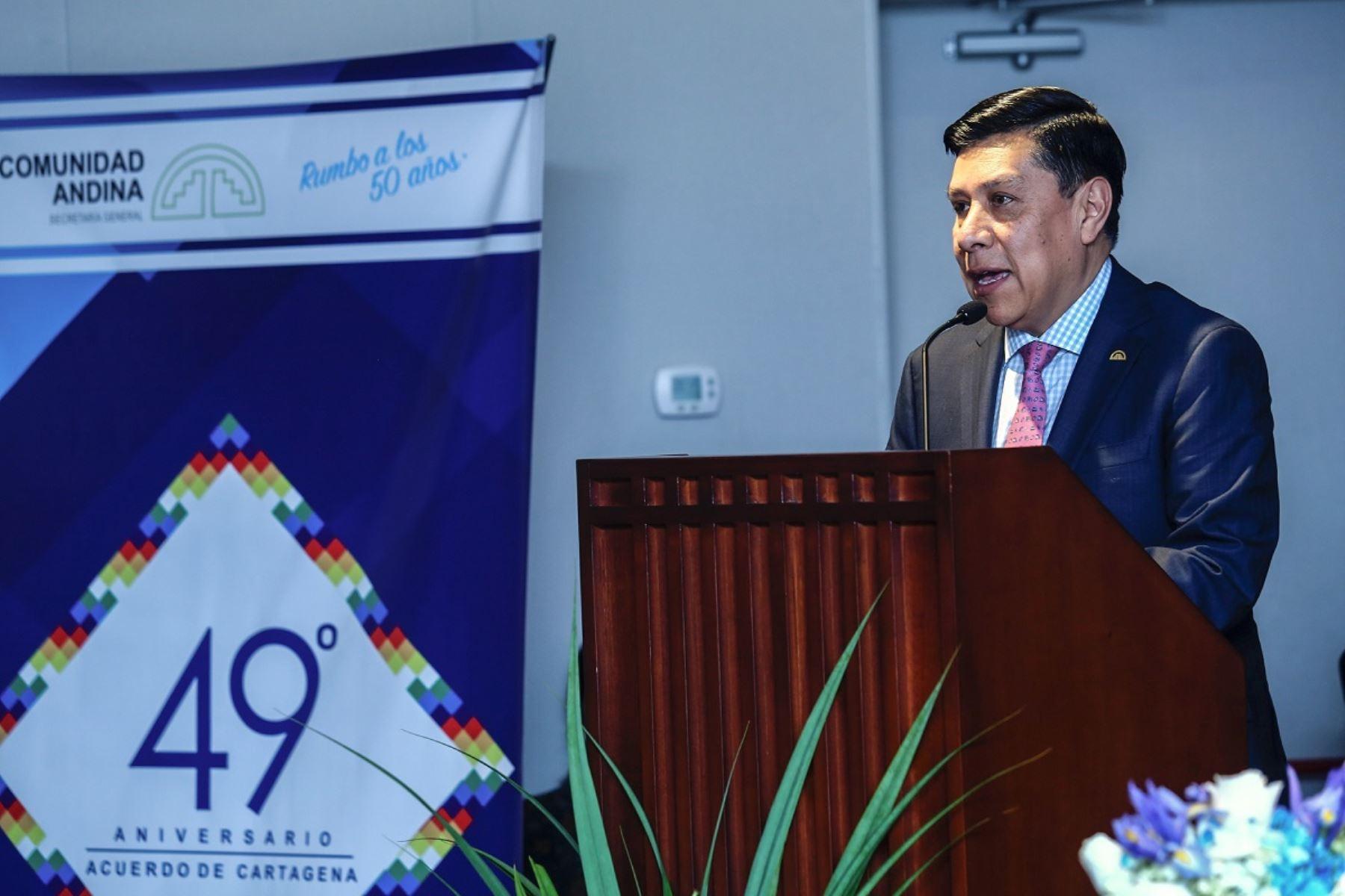 Secretario General de la CAN, Walker San Miguel. Foto: Cortesía.