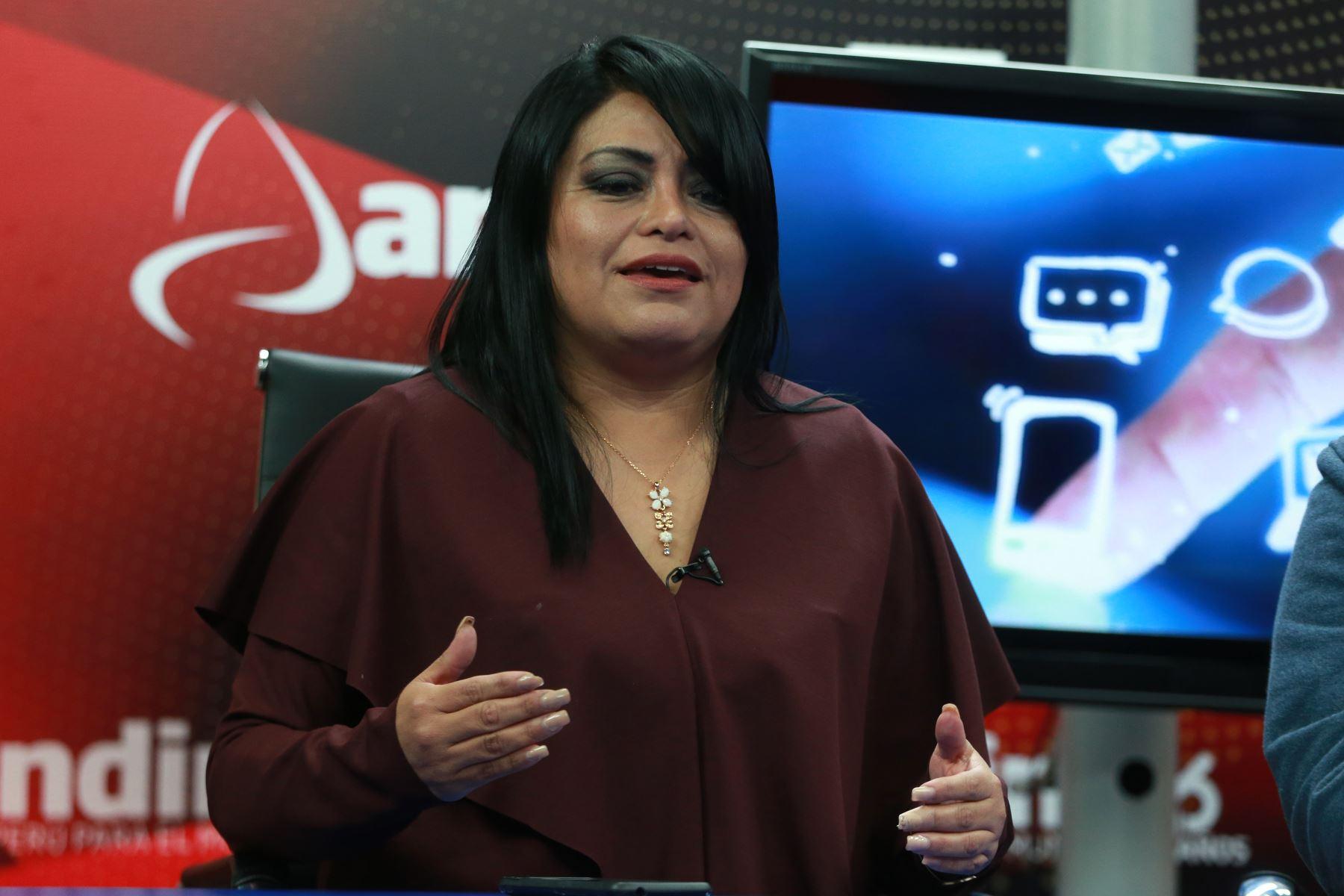 Presidenta de la Asociación Fintech Perú, María Laura Cuya. ANDINA/Vidal Tarqui