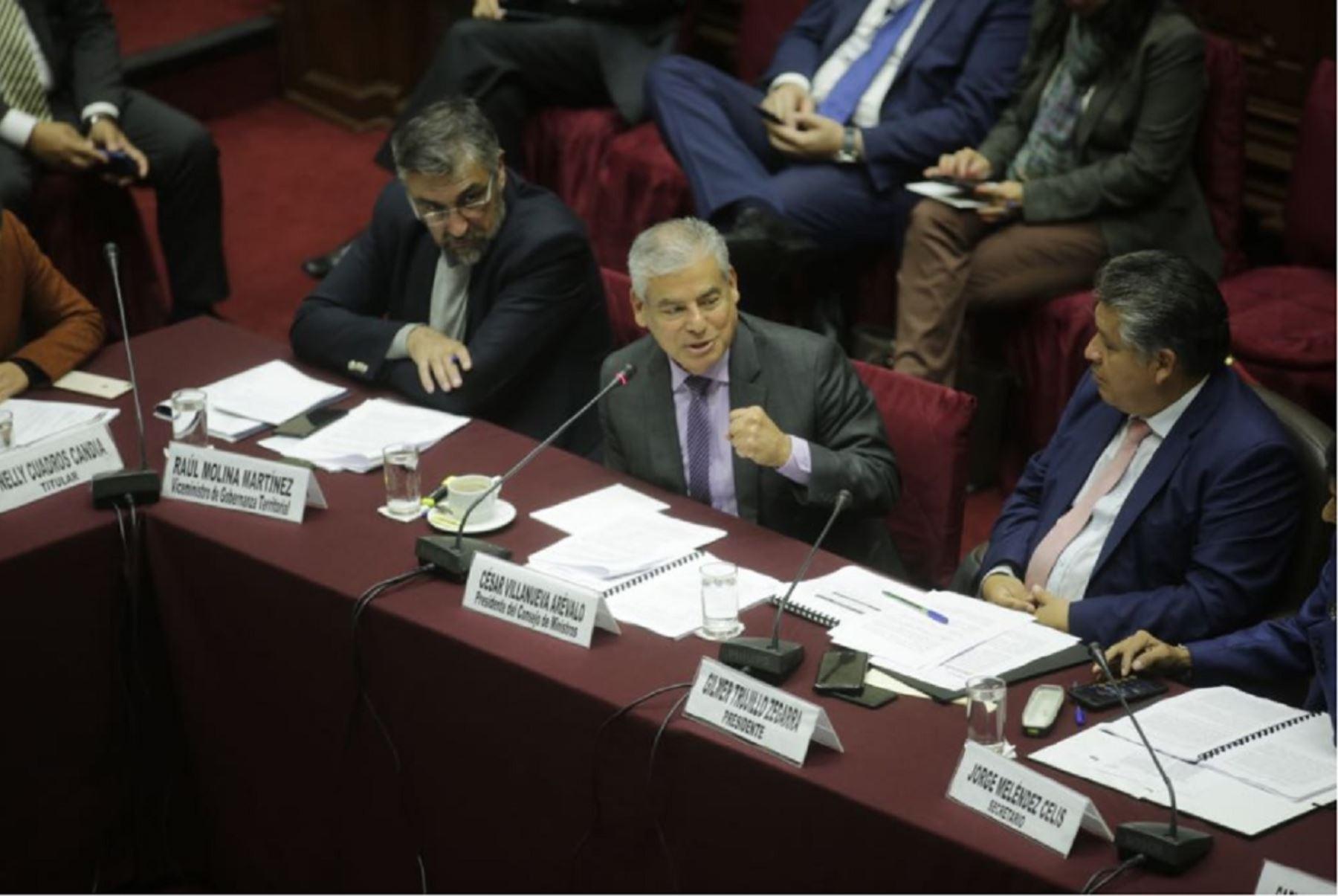 Presidente del Consejo de Ministros, César Villanueva.