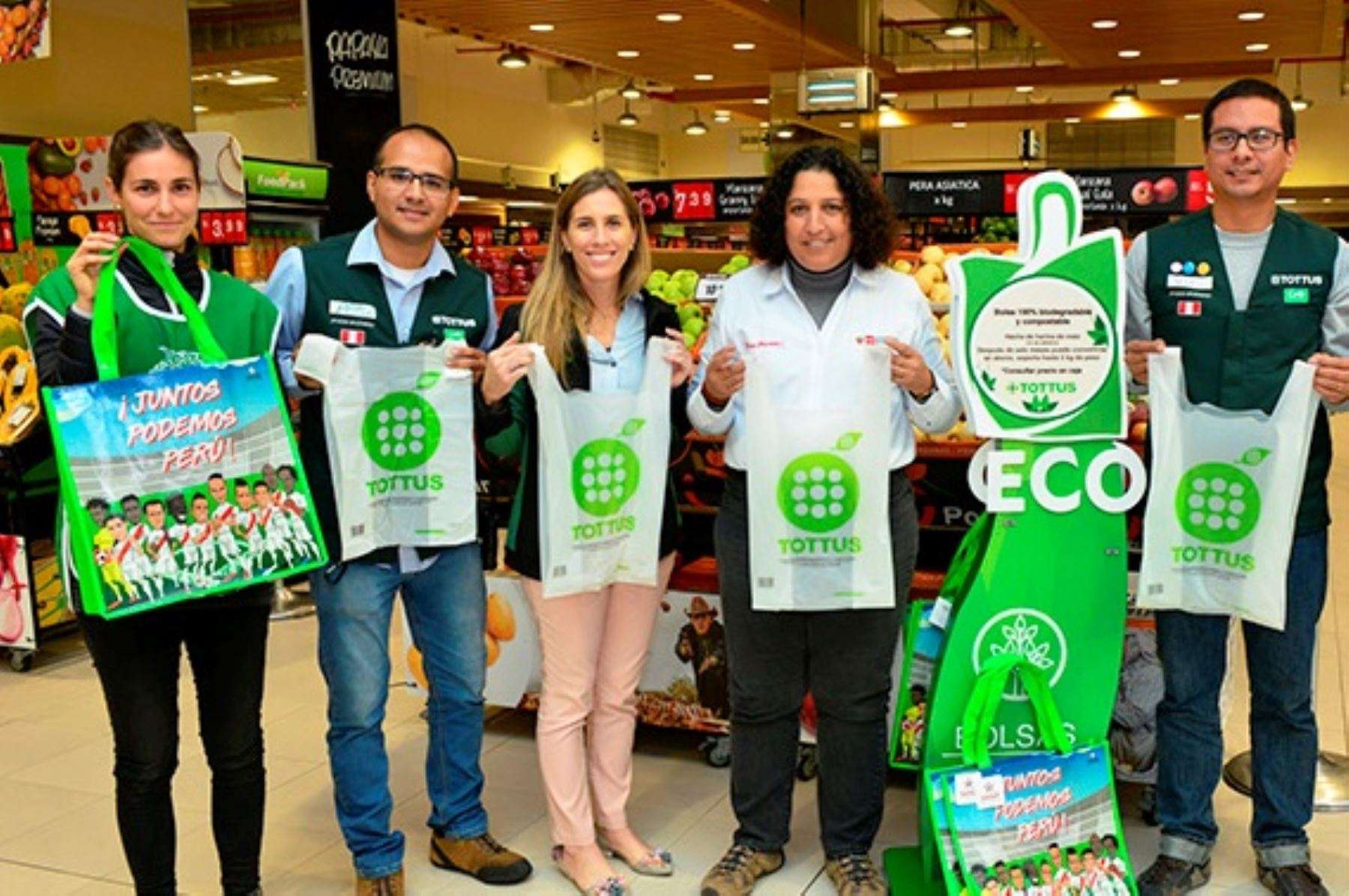 Supermercados se suman a campaña del Minam para usar menos plástico. Foto: ANDINA/Difusión.