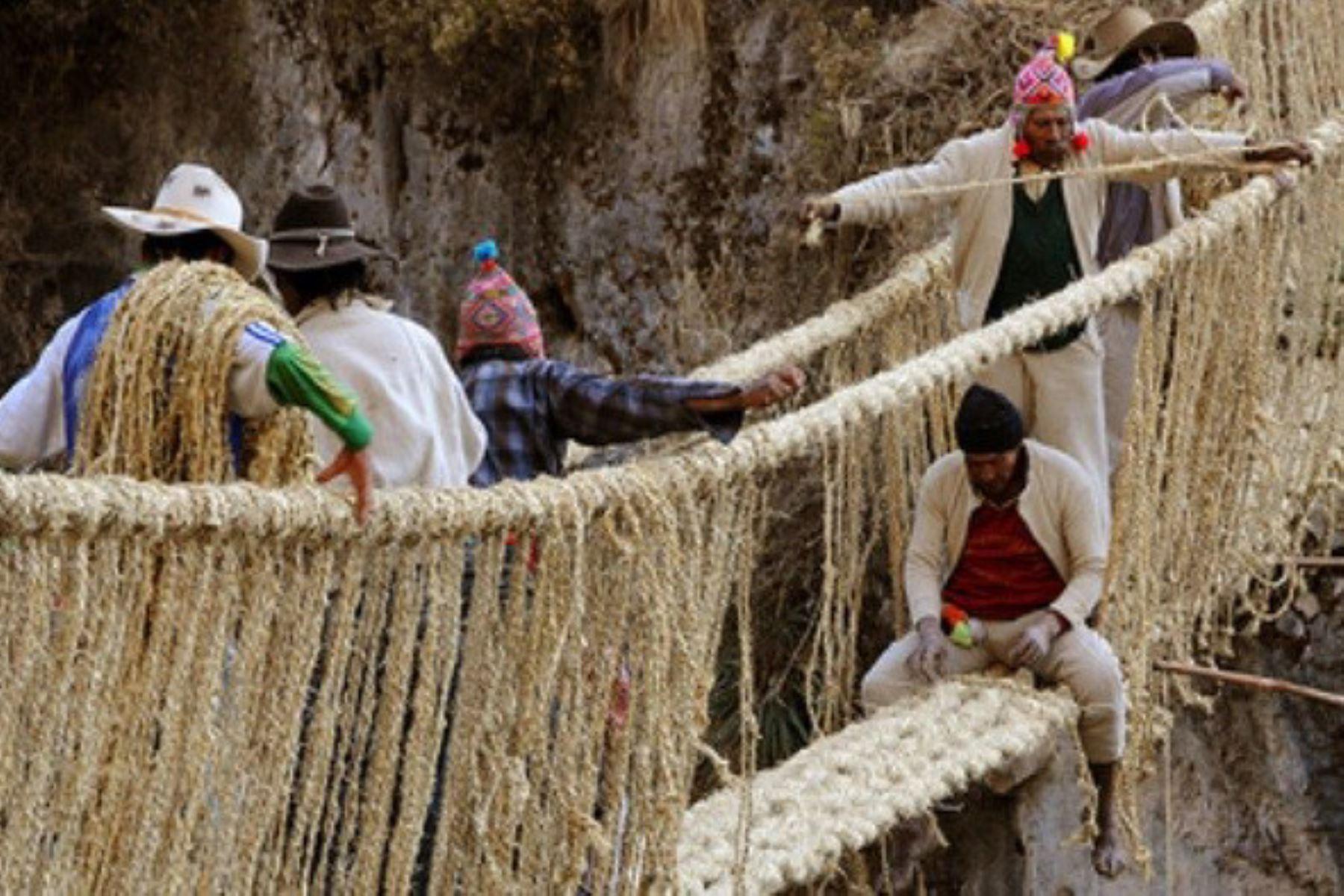 BBC Mundo destaca la técnica ancestral para reconstruir el puente Q'eswachaka, en Cusco. ANDINA/Difusión